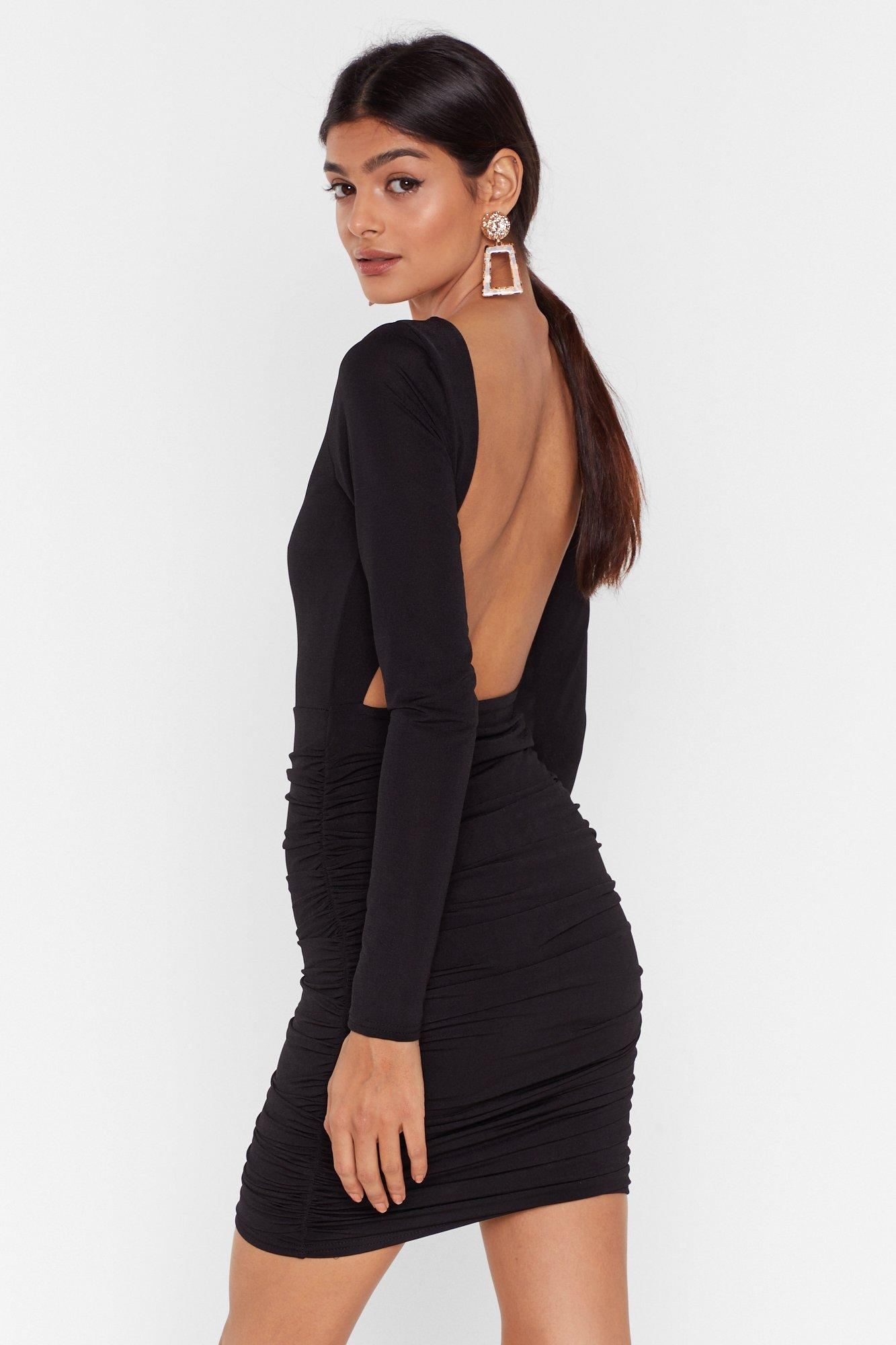 Image of Slinky Ruched Dress