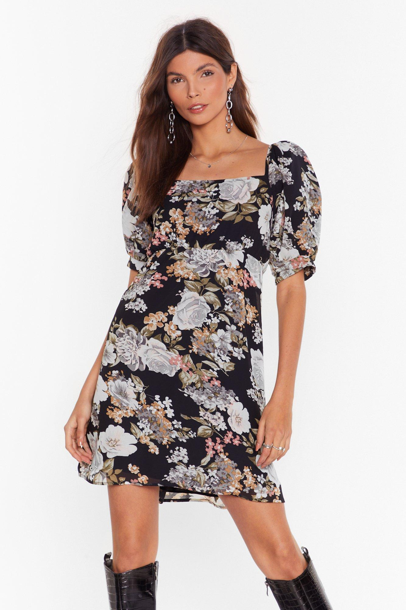 Image of Feel the Flower Floral Mini Dress