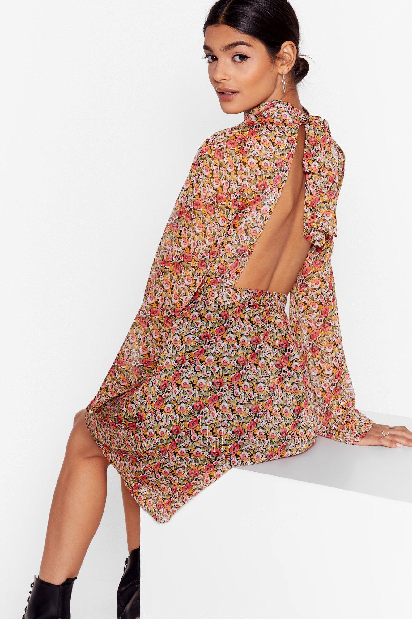 Image of Grow It Alone Floral Mini Dress