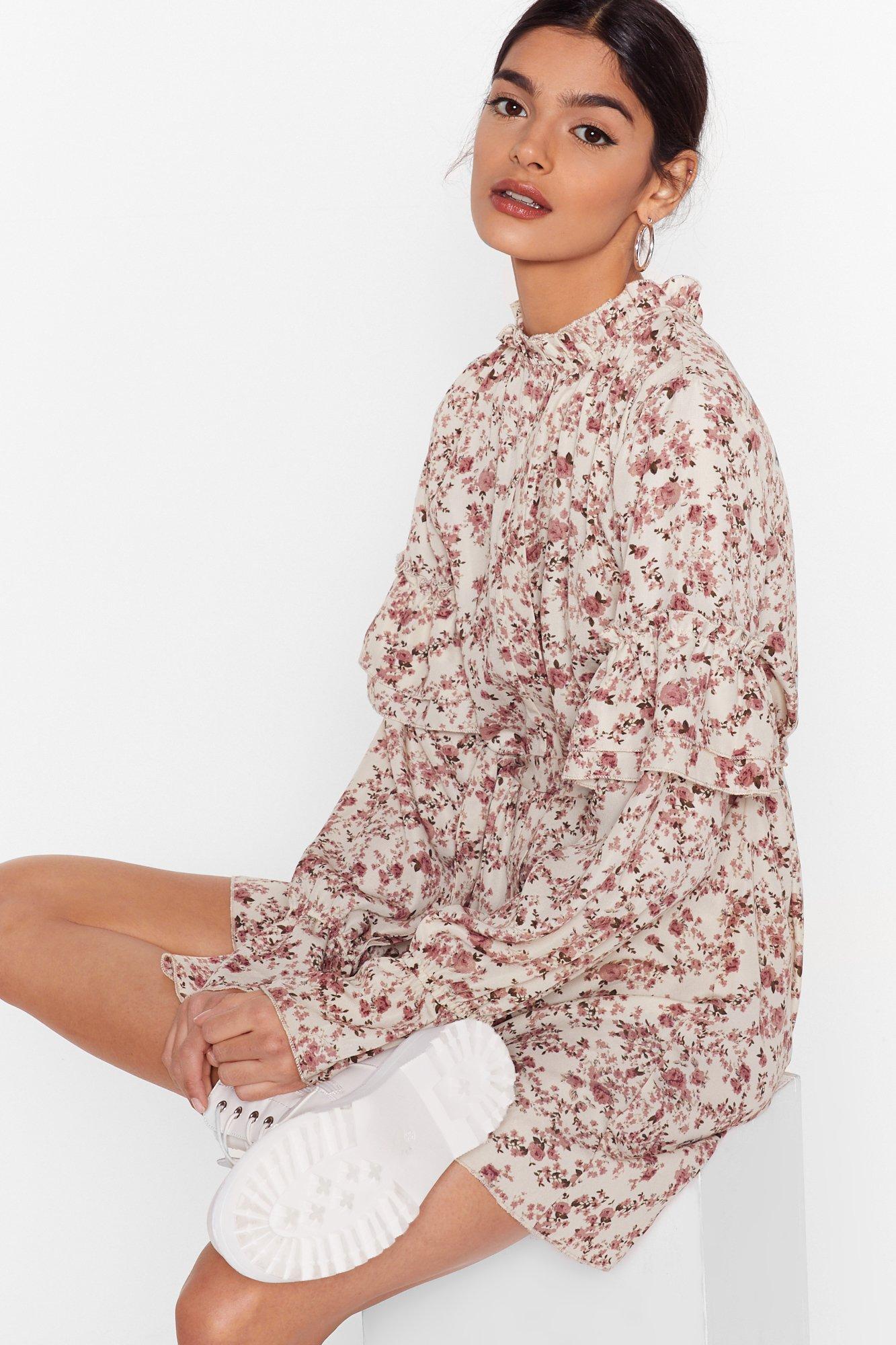 Image of Plant Stop Me Now Floral Mini Dress