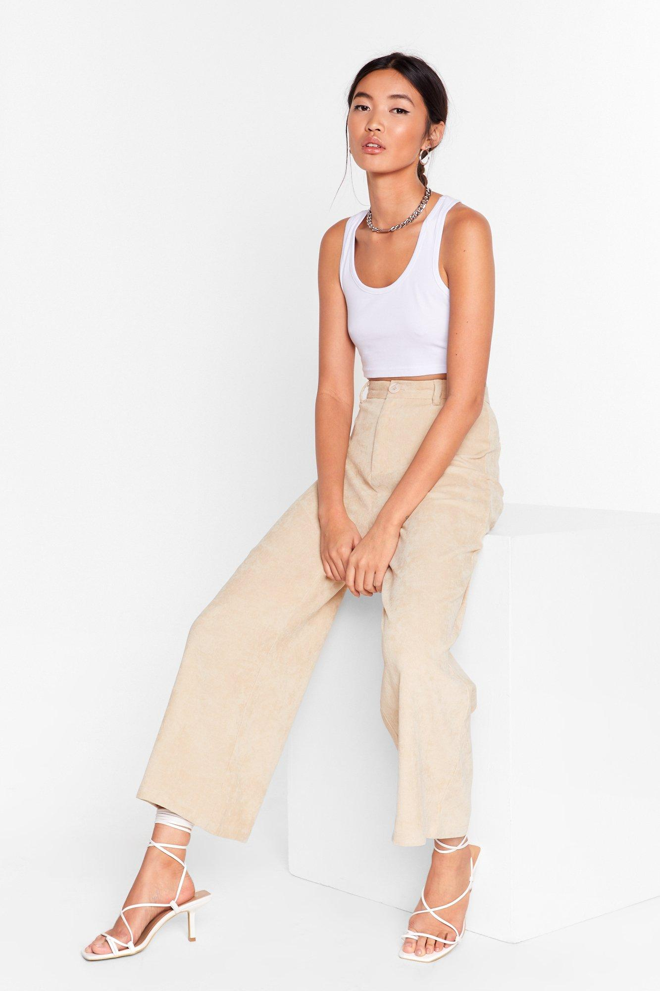 Image of Take 'Em High Corduroy Wide-Leg Pants