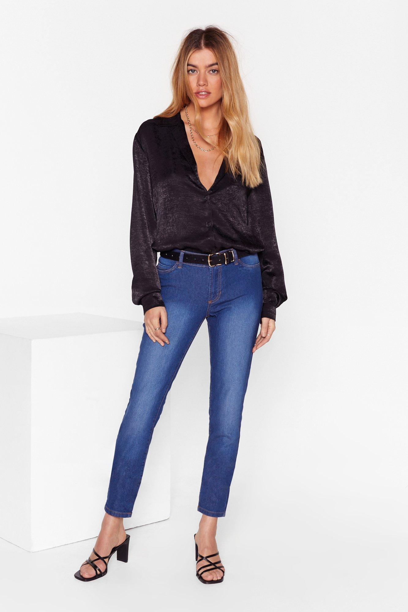 Image of Keep a Wash Out High-Waisted Skinny Jeans