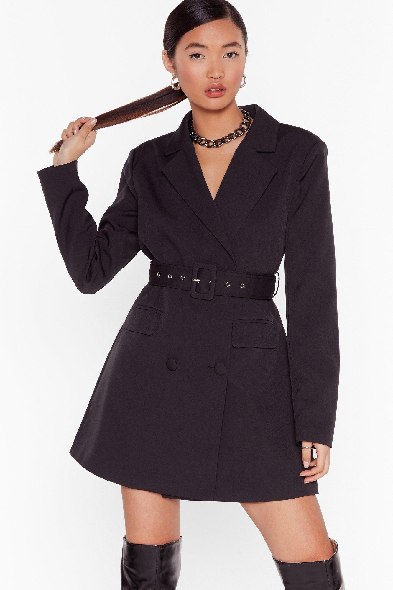 Image of Boss Up Belted Blazer Dress