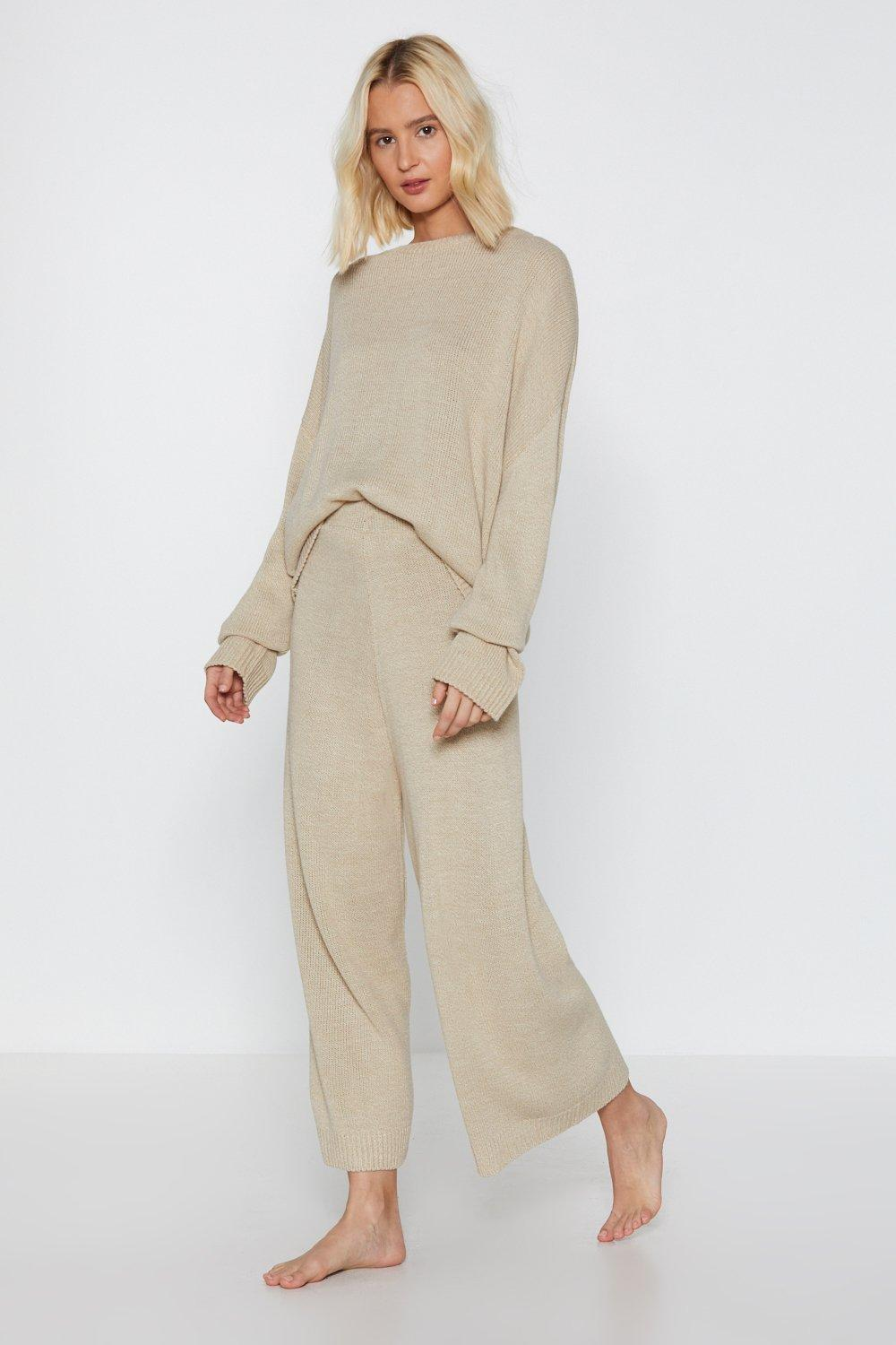 Image of You've Met Your Match Knitted Lounge Set