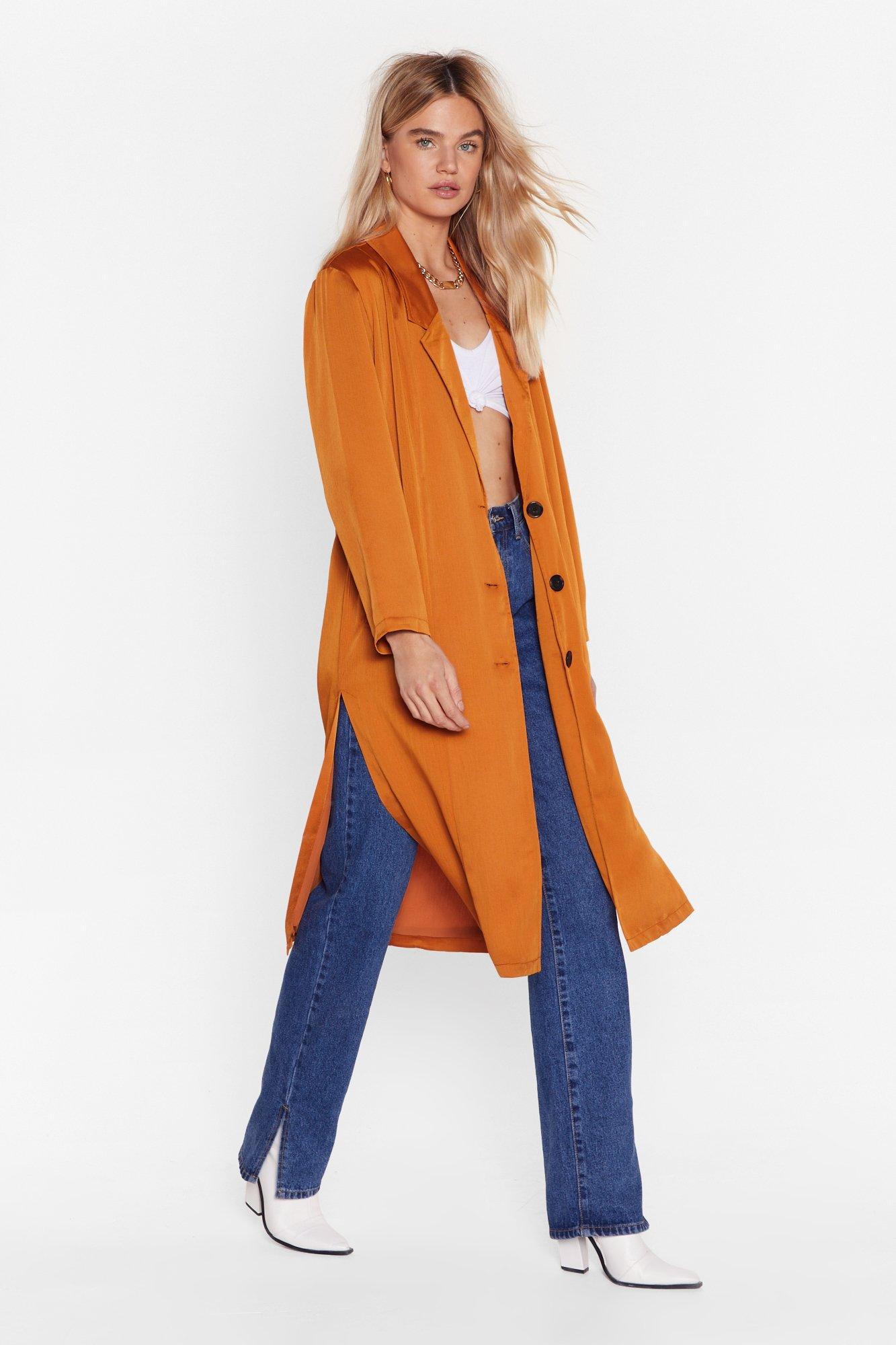 Image of Actions Sleek Louder Than Words Duster Jacket