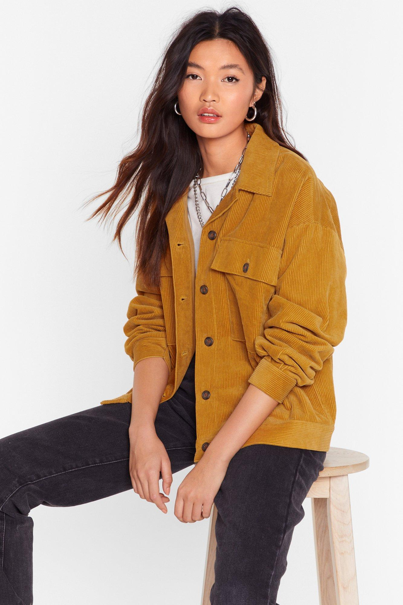 Image of At the Record-uroy Store Relaxed Shirt Jacket