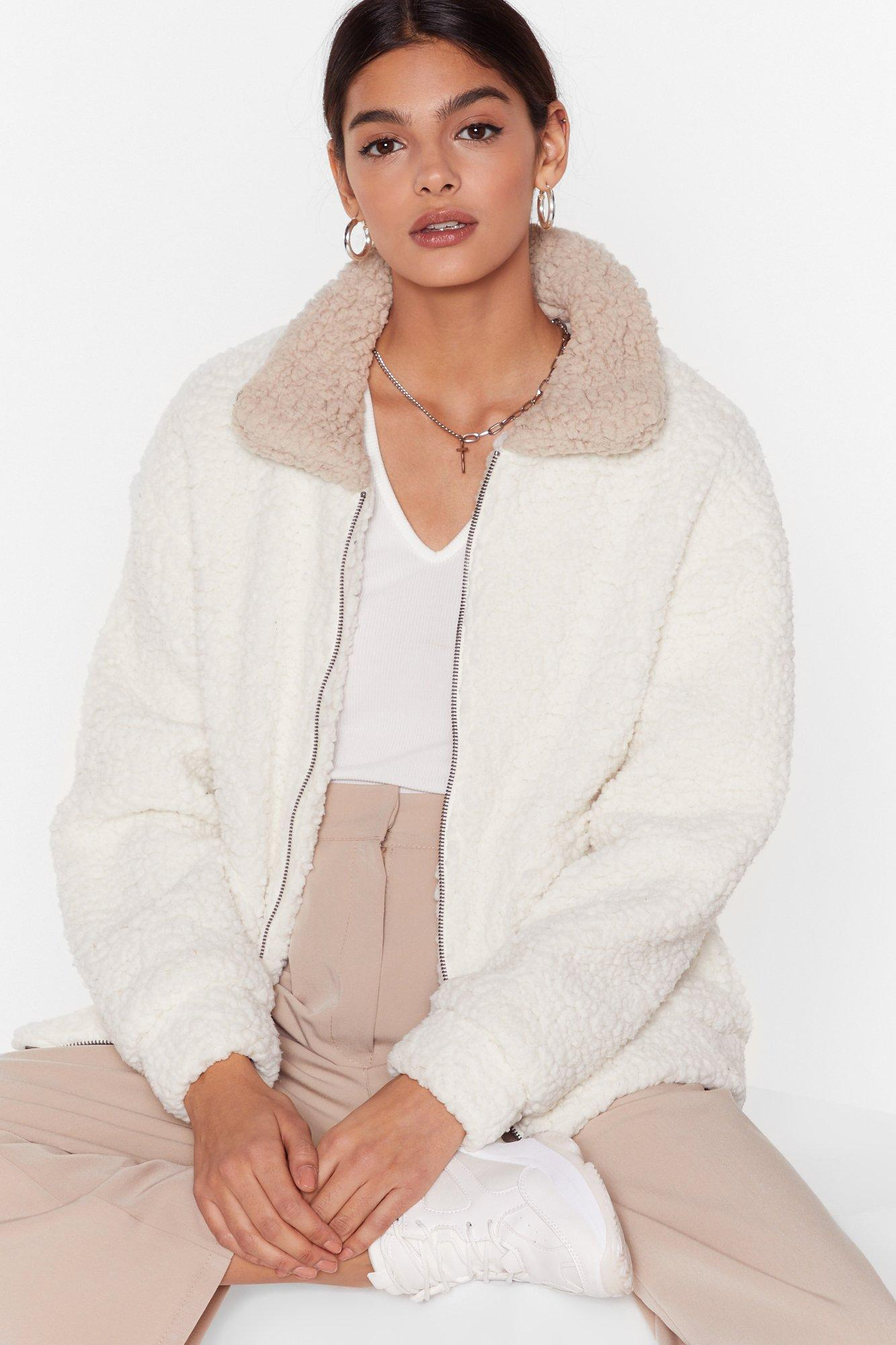Image of Where Fur We Faux Shearling Jacket