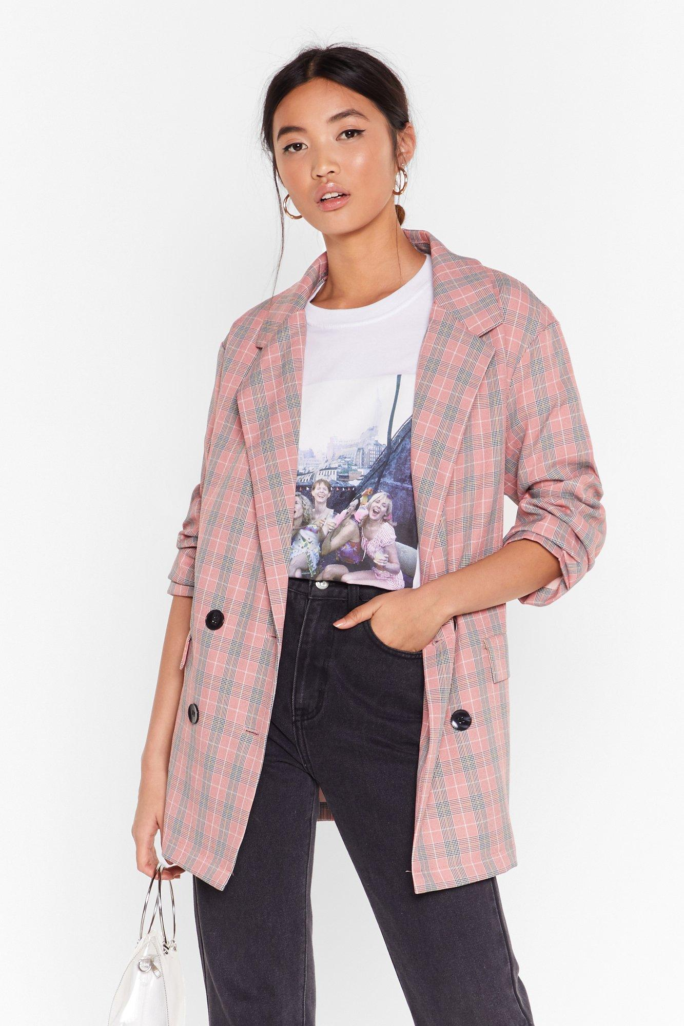Image of Check Her Out Double Breasted Blazer