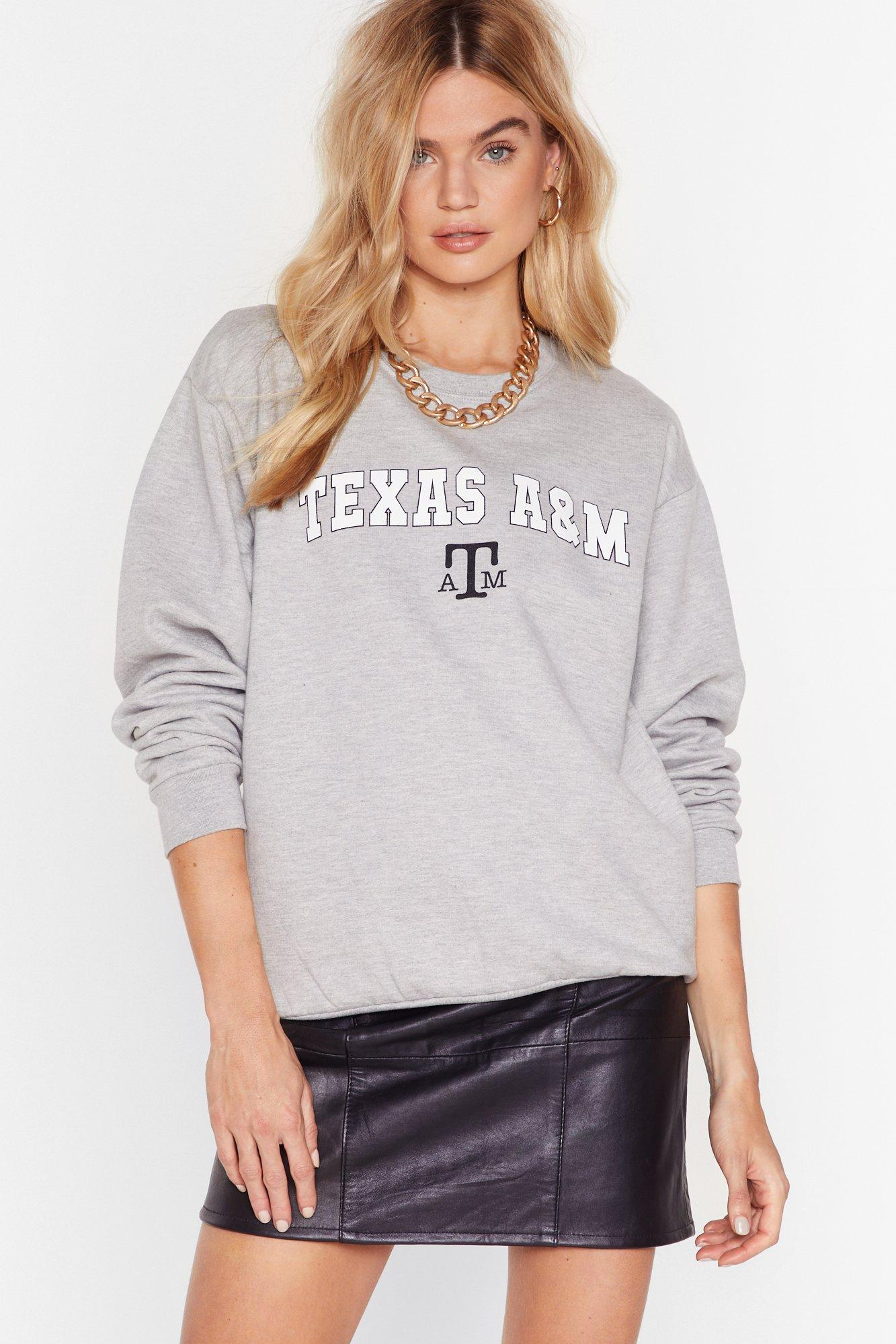 Image of Everything's Bigger in Texas Graphic Sweatshirt