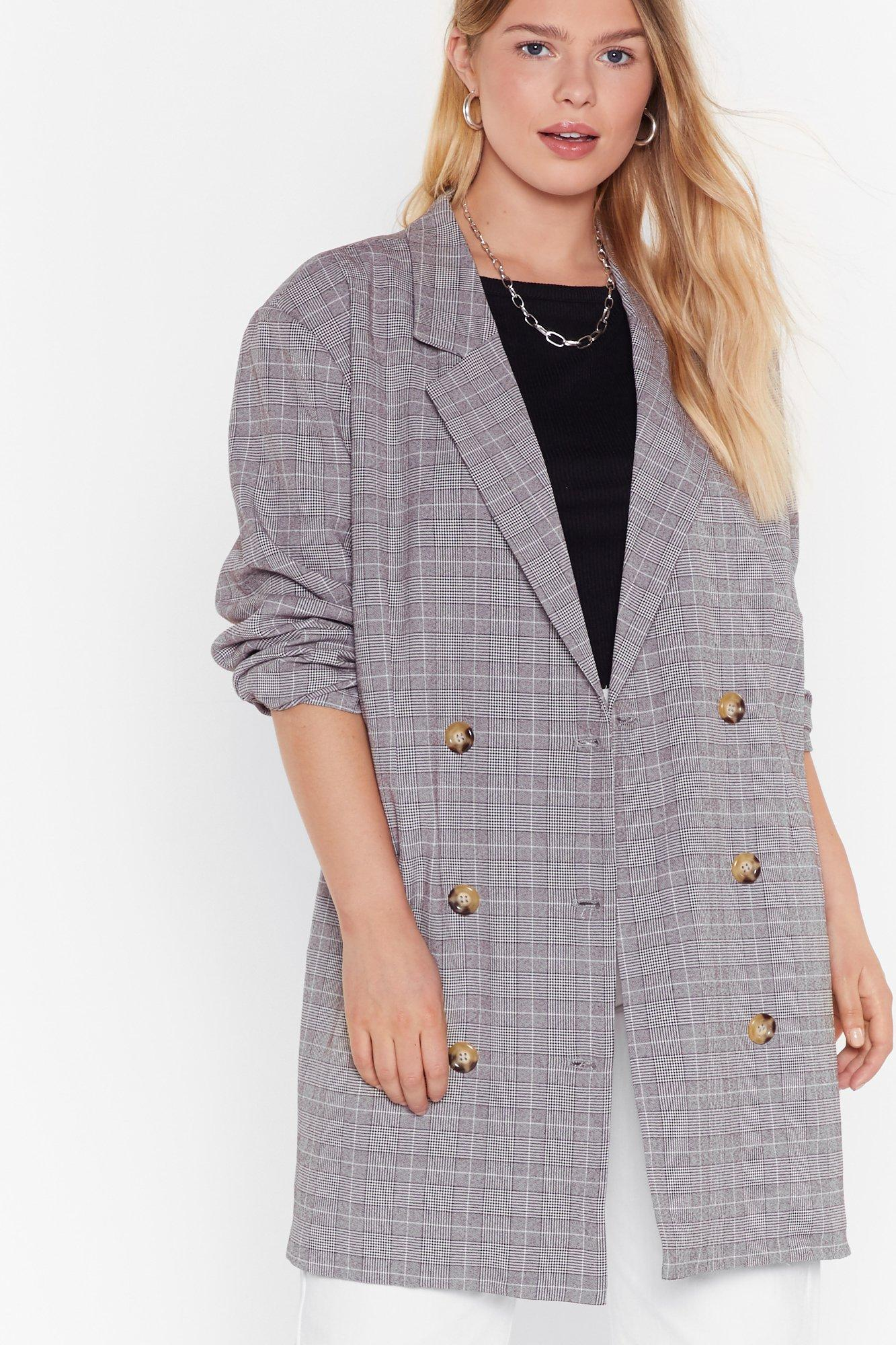 Image of Well Check You Out Plus Longline Blazer