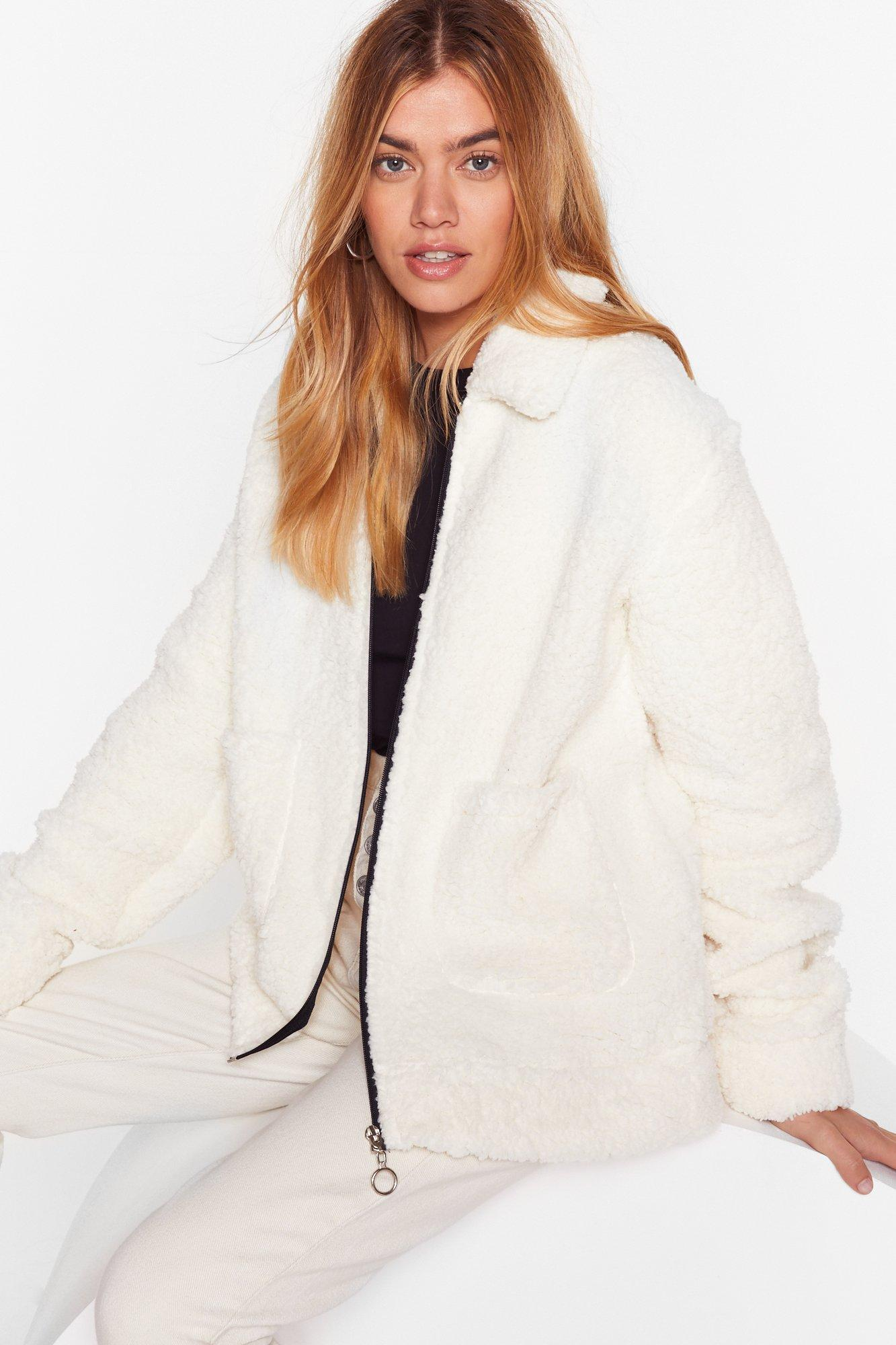 Image of Faux Shearling Not Relaxed Jacket