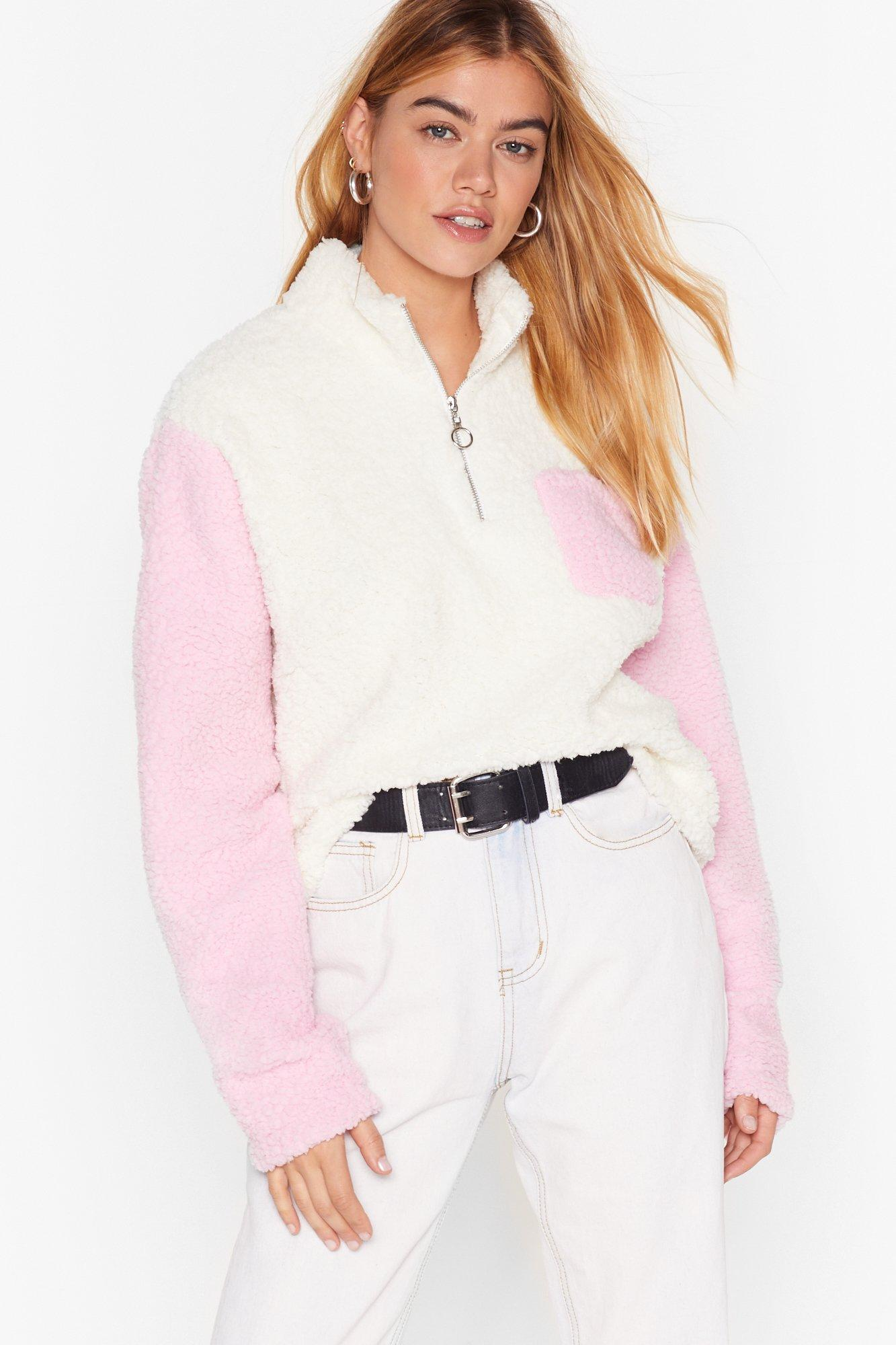 Image of New Kid on the Colorblock Faux Shearling Sweater