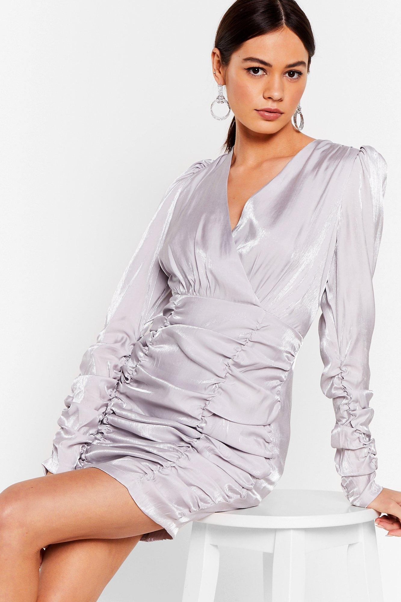 Image of It's Your Shine Ruched Mini Dress