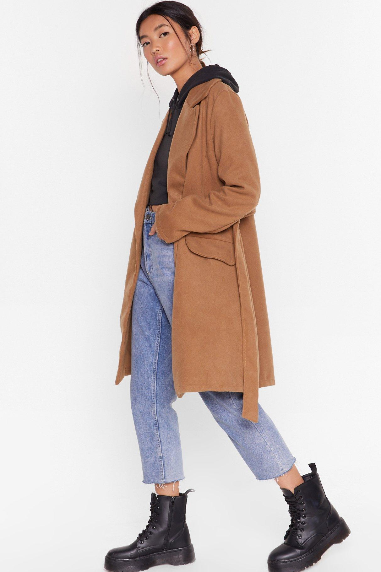 Image of Grab Your Faux Wool Coat