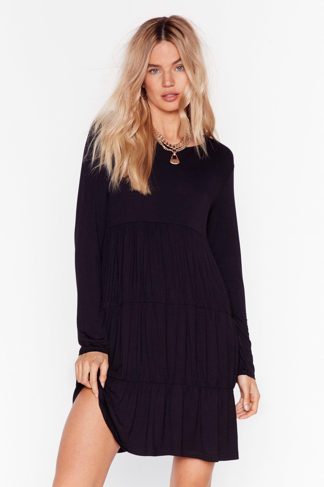 Image of Tier We Come Relaxed Mini Dress