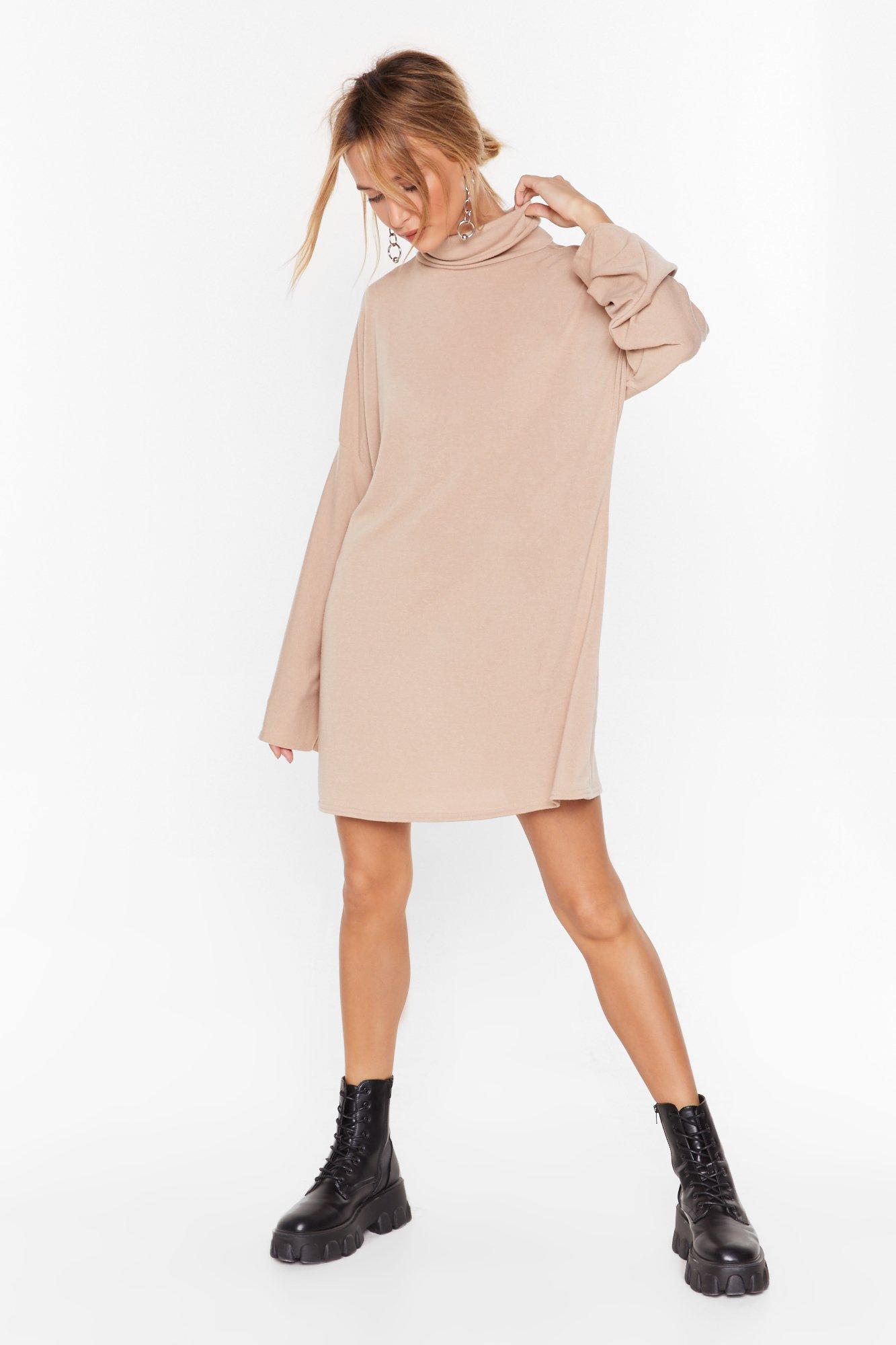 Image of My Soft Side Turtleneck Mini Dress