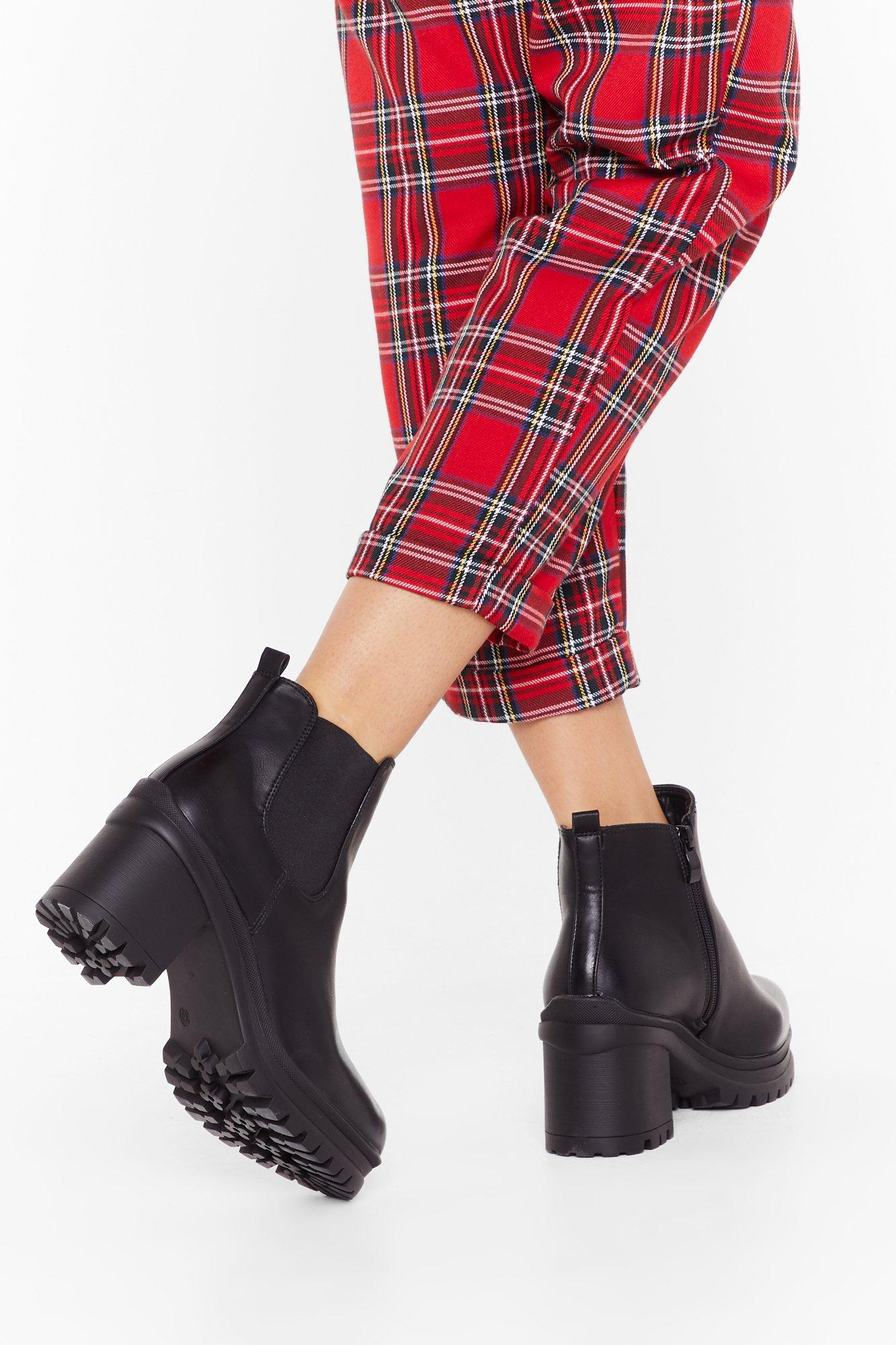 Image of Follow the Leader Cleated Chelsea Boots