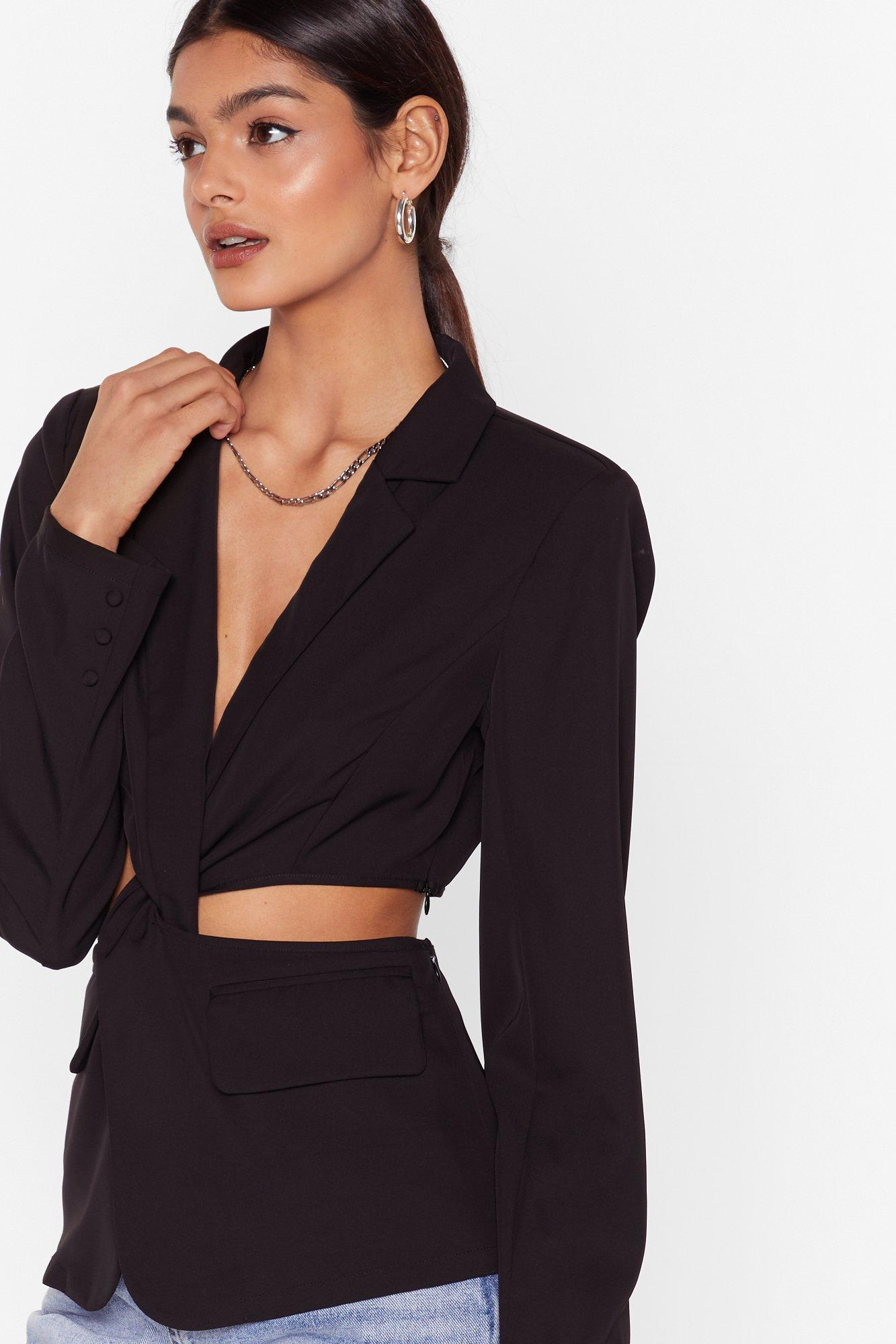 Image of Cut-Out of Office Twist Blazer