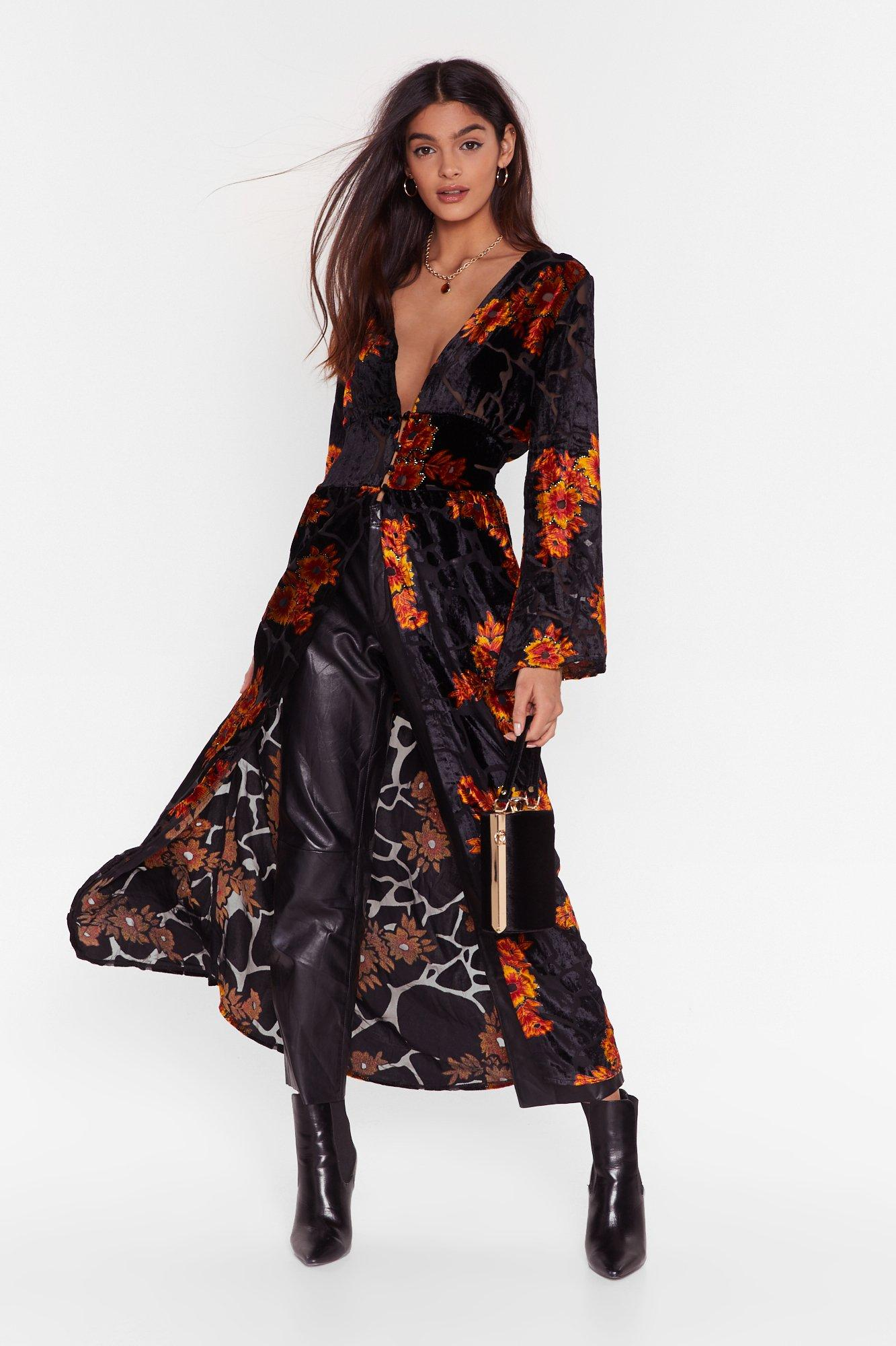 Image of Star of the Grow Floral Longline Blouse