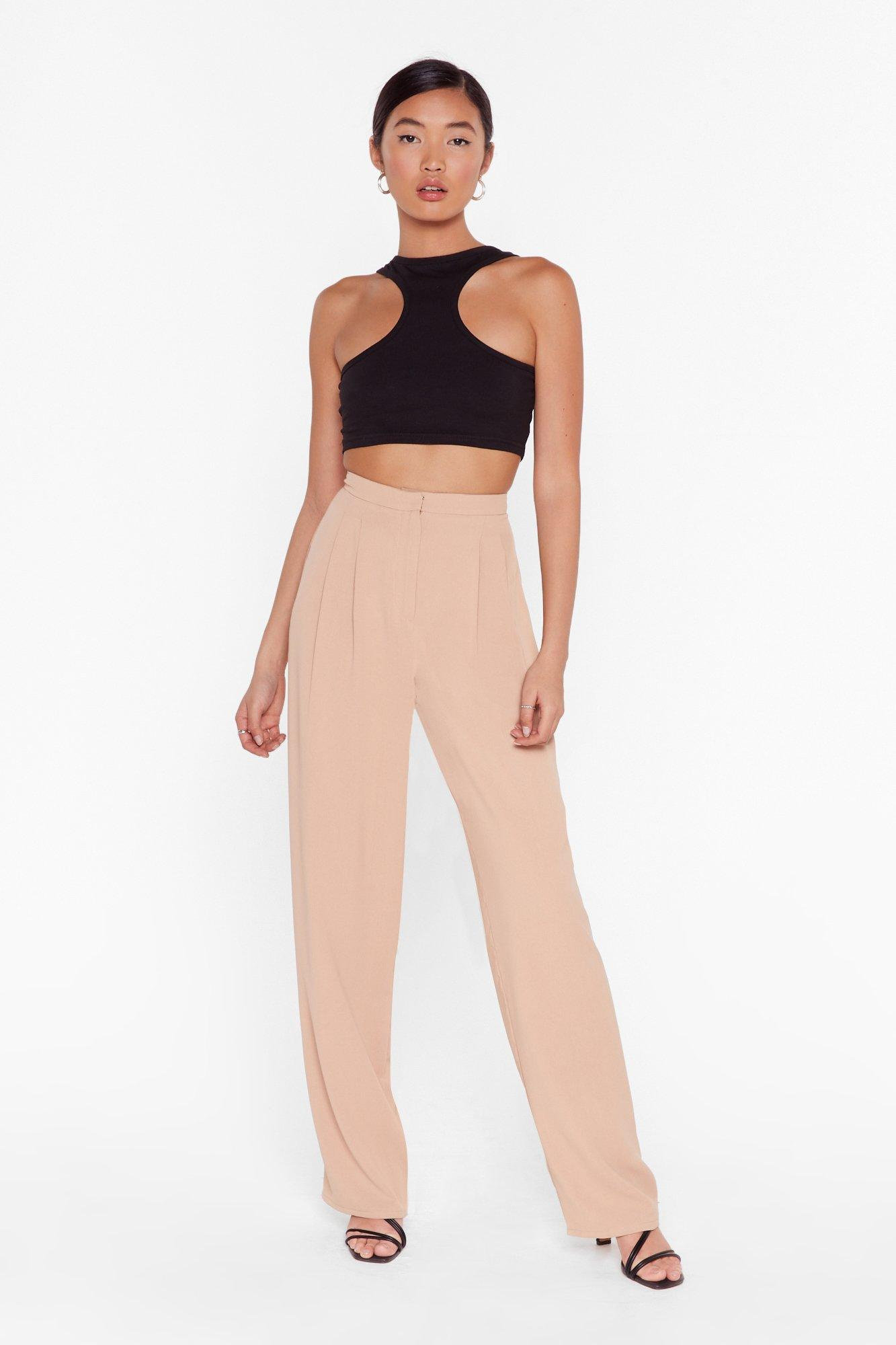 Image of Put Your Back Into It High-Waisted Wide-Leg Pants