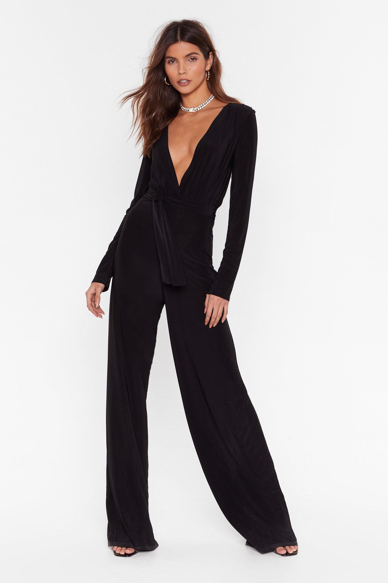 Image of You Look Good On the Dancefloor Belted Jumpsuit