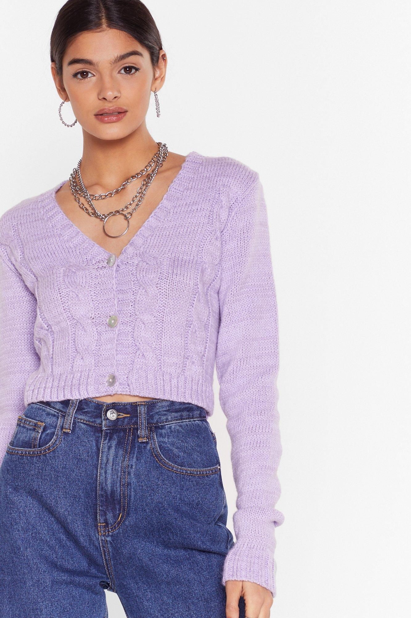 Image of Take Knit As Knit Comes Cropped Cardigan