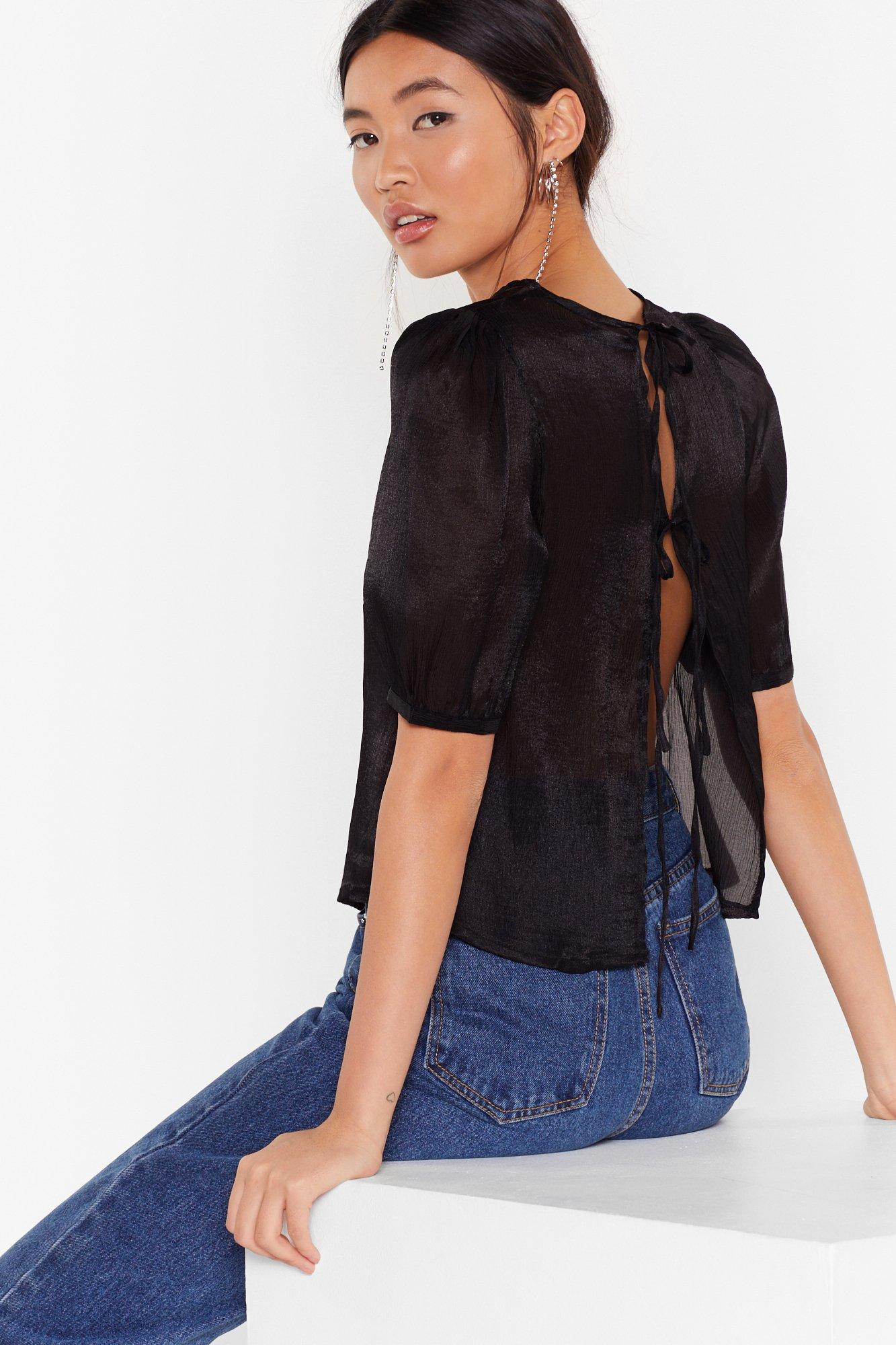 Image of Tie to Be Kind Puff Sleeve Blouse