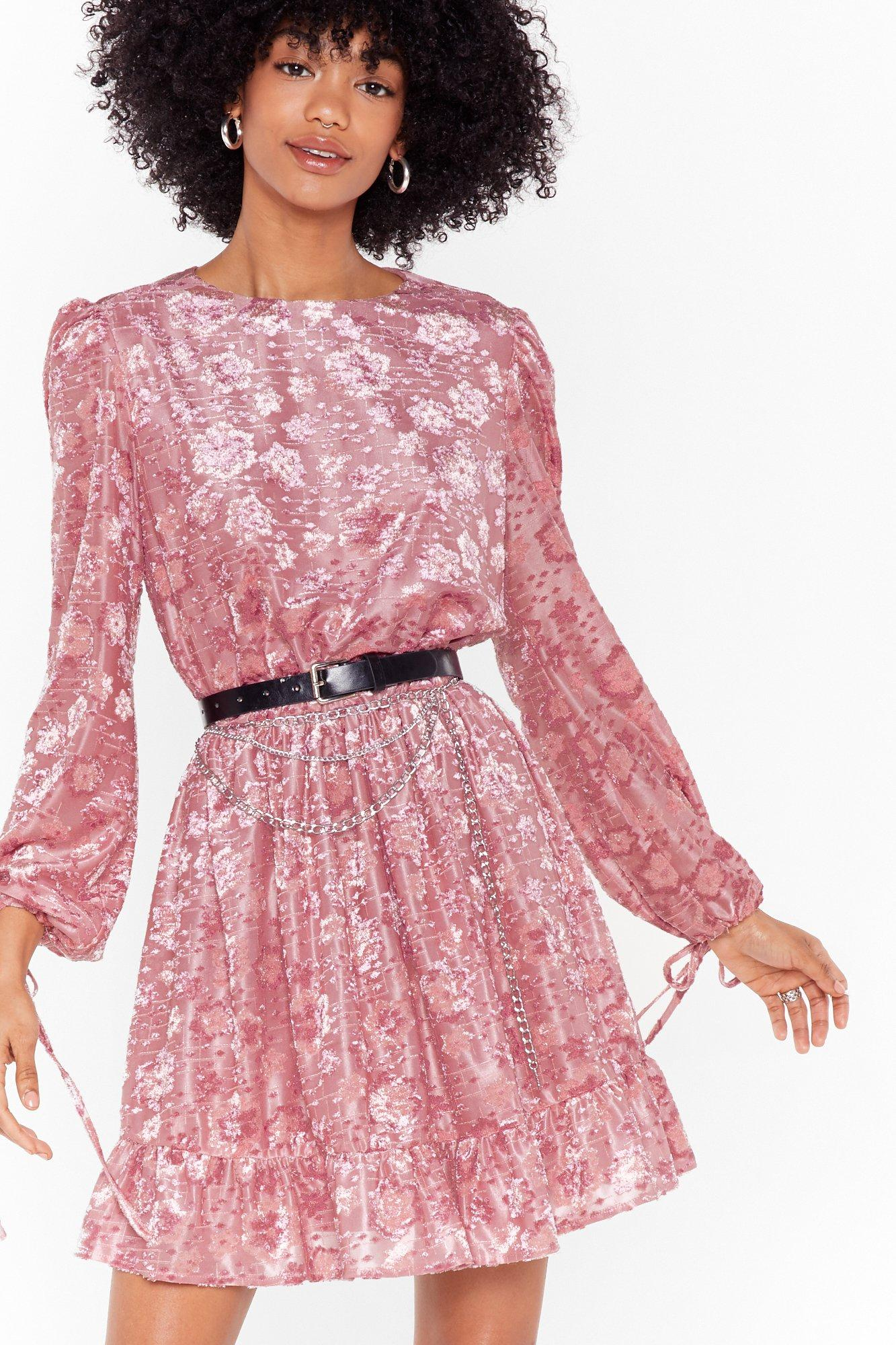 Image of Ruffle Some Feathers Floral Mini Dress