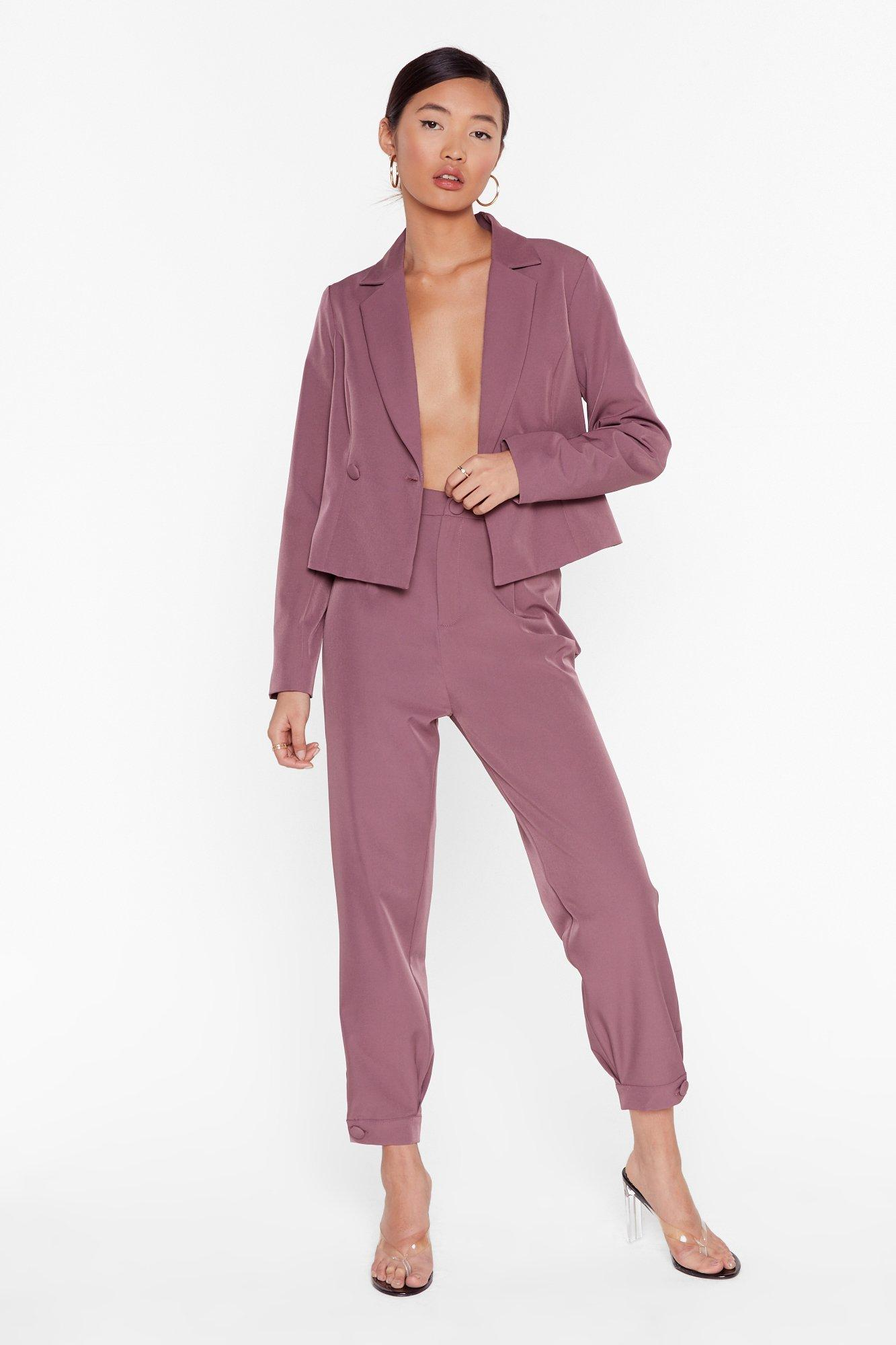 Image of So Bossy Tailored Tapered Pants