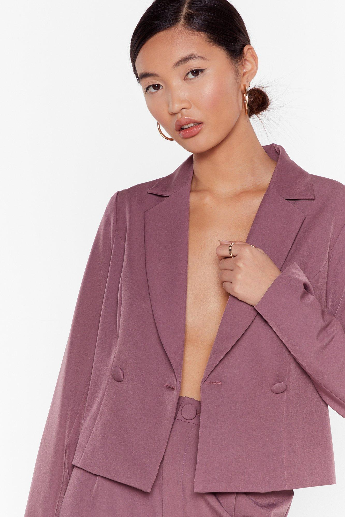 Image of So Bossy Cropped Tailored Blazer