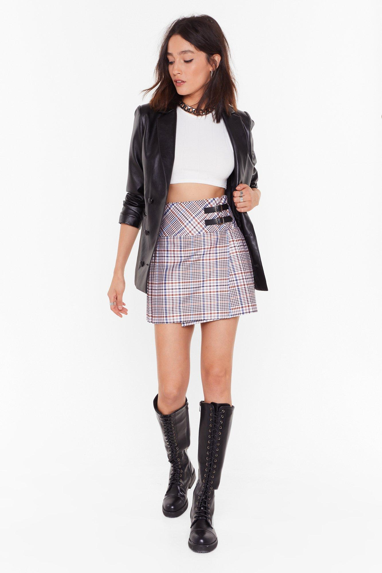 Image of The Best You Ever Had Tartan Mini Skirt