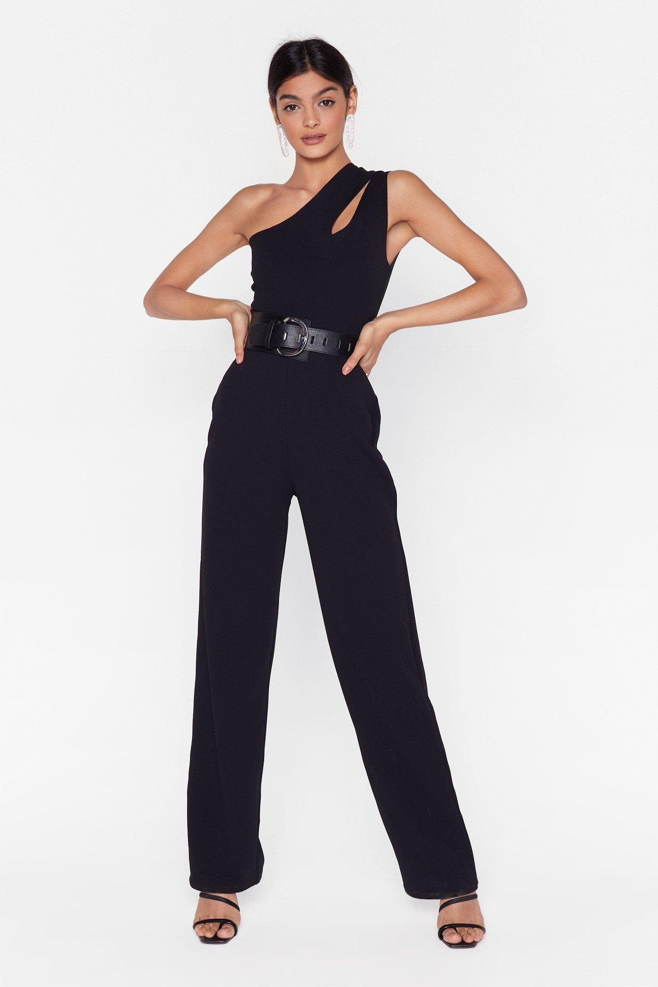 Image of Party of One Shoulder Jumpsuit