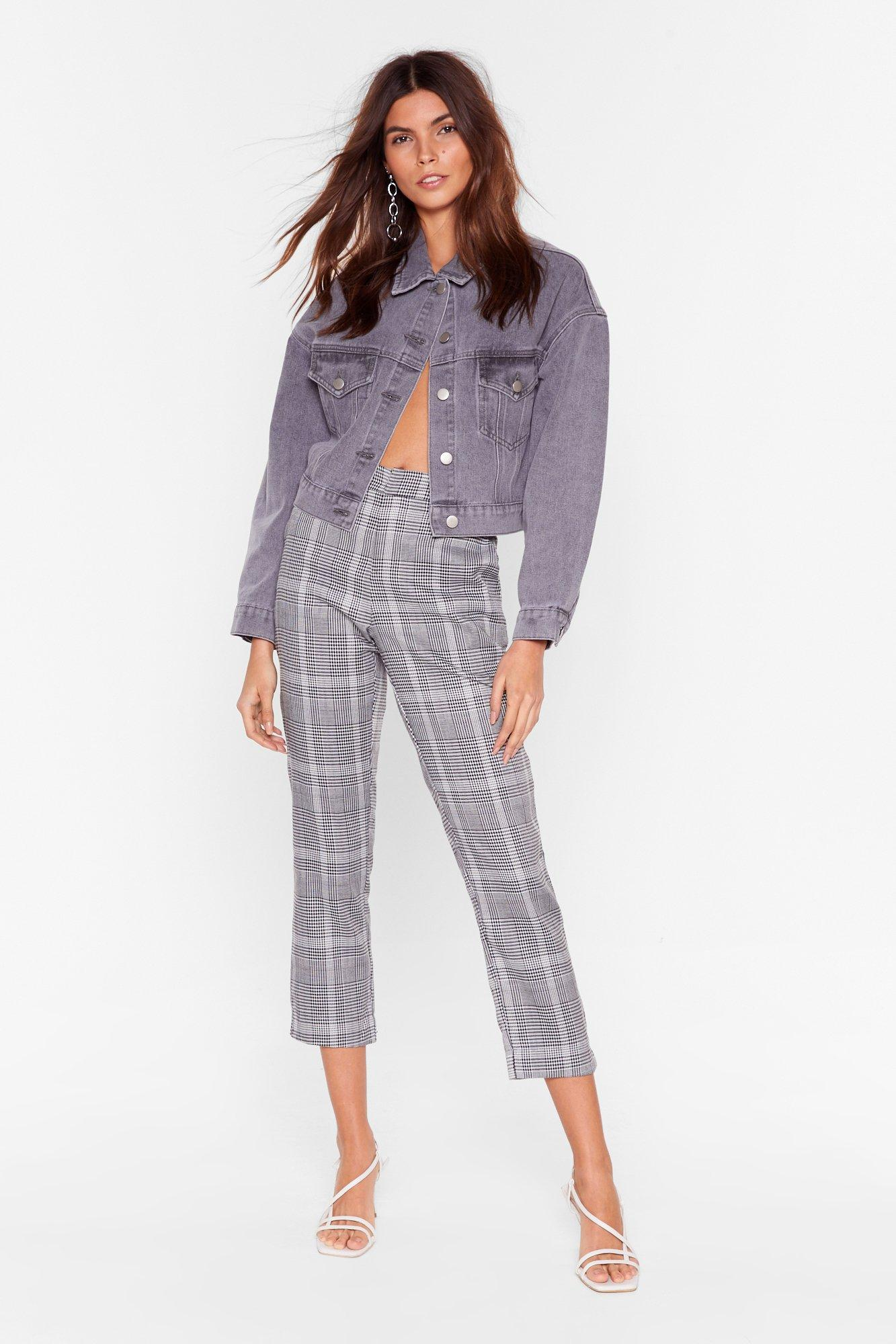 Image of One Check at a Time Tapered Pants