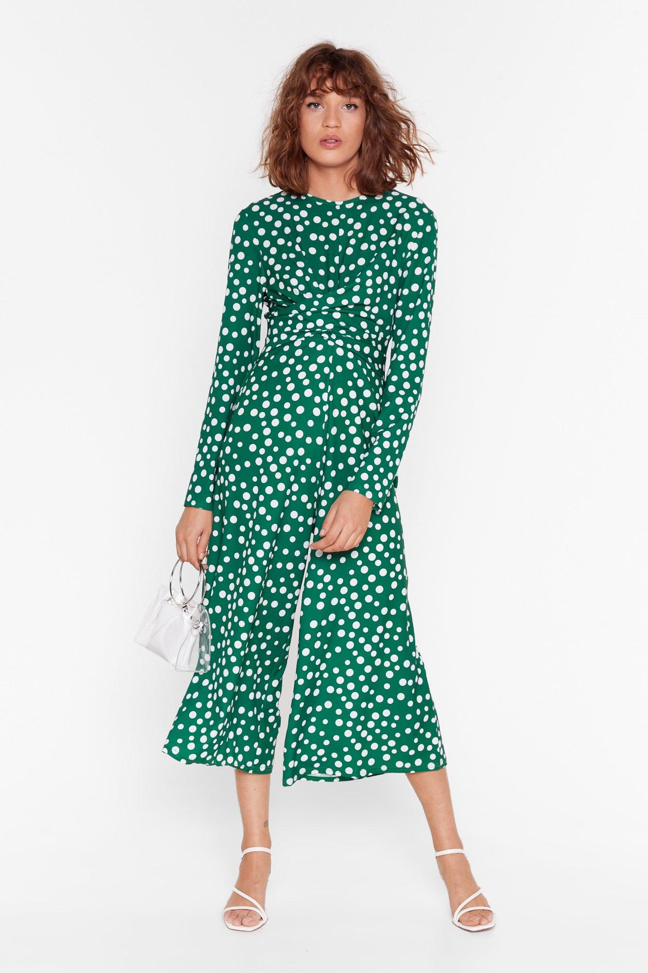 Image of Dot Ready to Go Polka Dot Jumpsuit