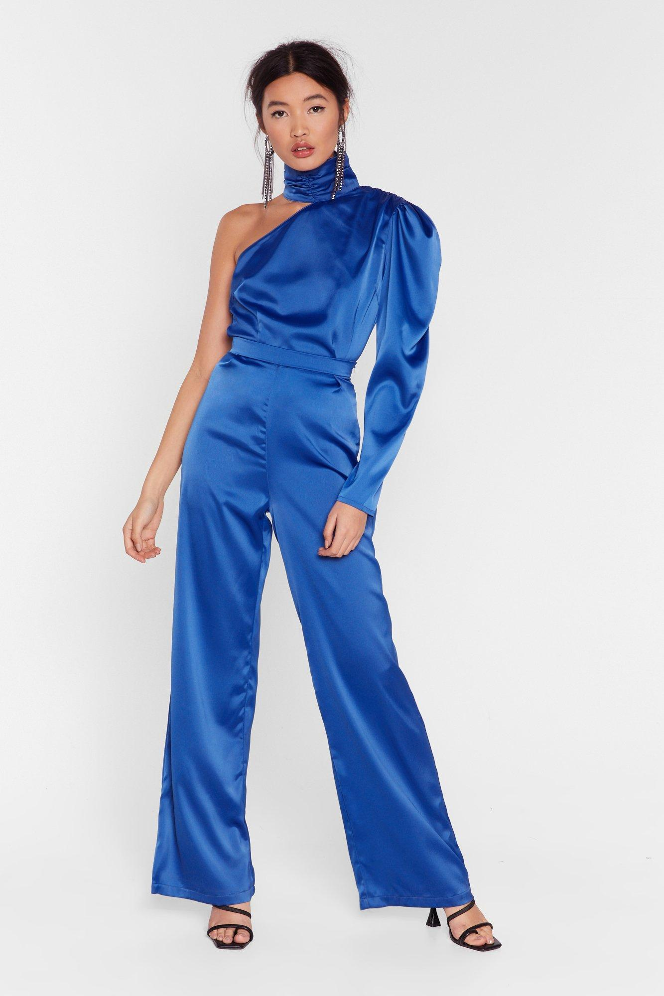 Image of Let It Satin High-Waisted Wide-Leg Pants