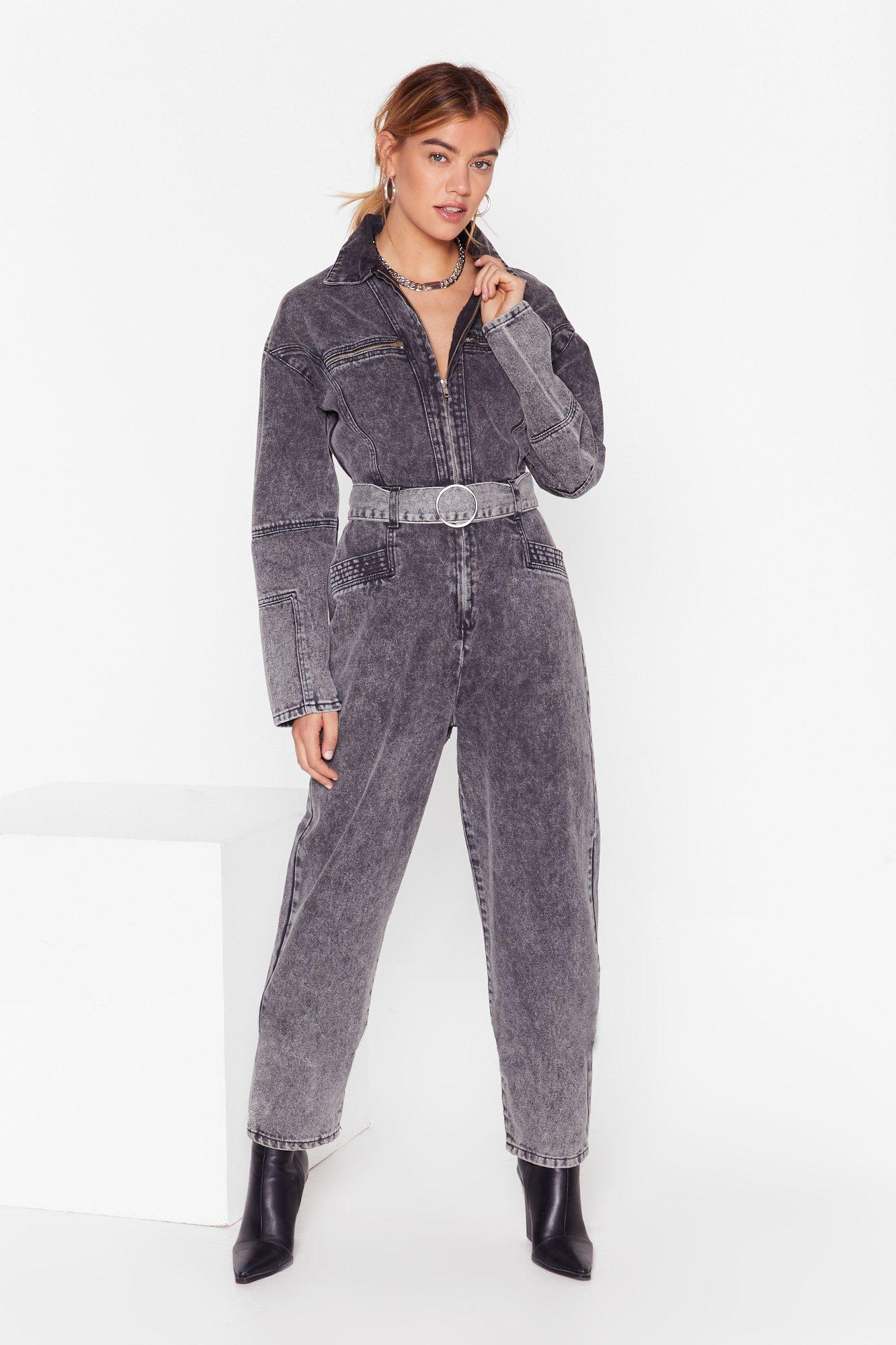 Image of Wash Who You're Talkin' To Denim Boilersuit