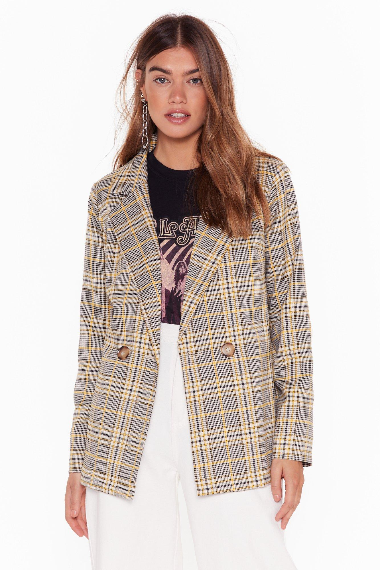 Image of Pick Up the Check Double Breasted Blazer