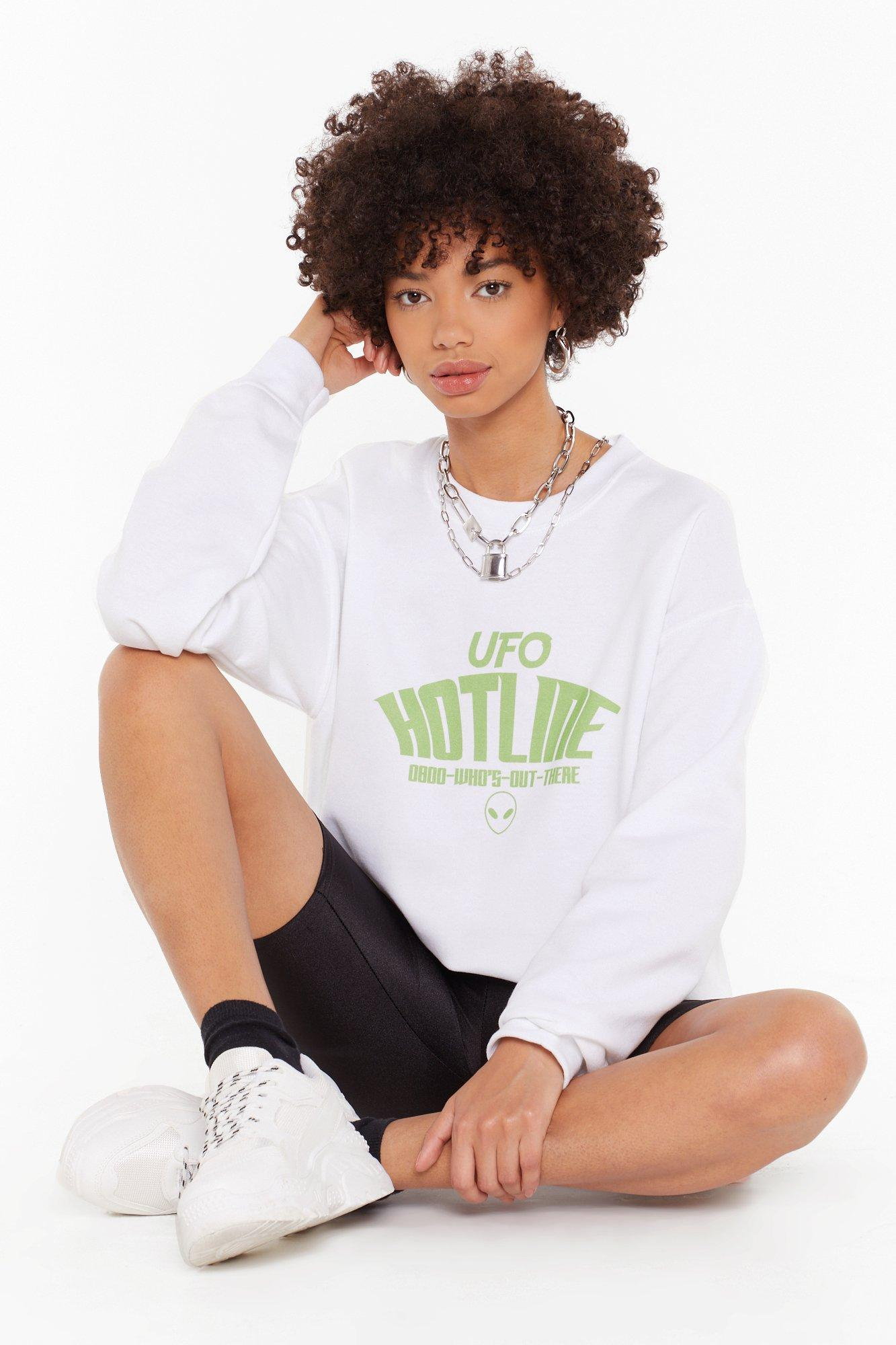 Image of UFO Hotline Graphic Sweatshirt