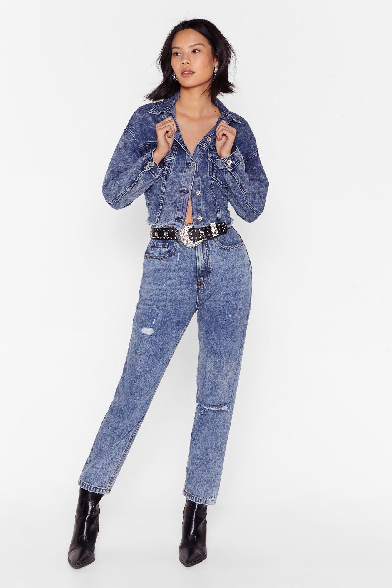Image of No Need to Distress Acid Wash Mom Jeans