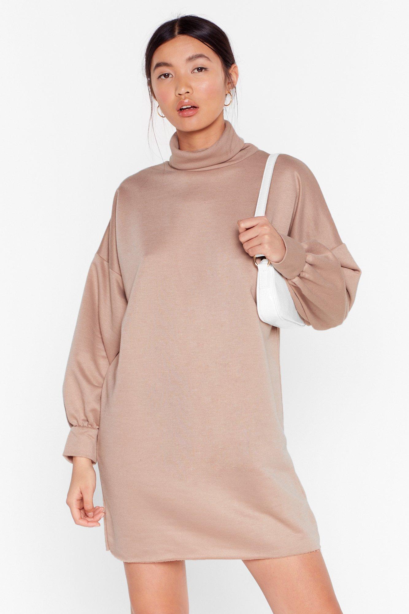 Image of No Sweat Turtleneck Sweatshirt Dress