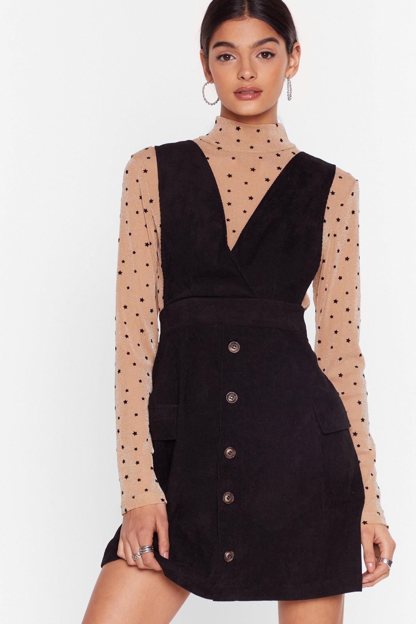 Image of Put That Record-uory On Pinafore Dress
