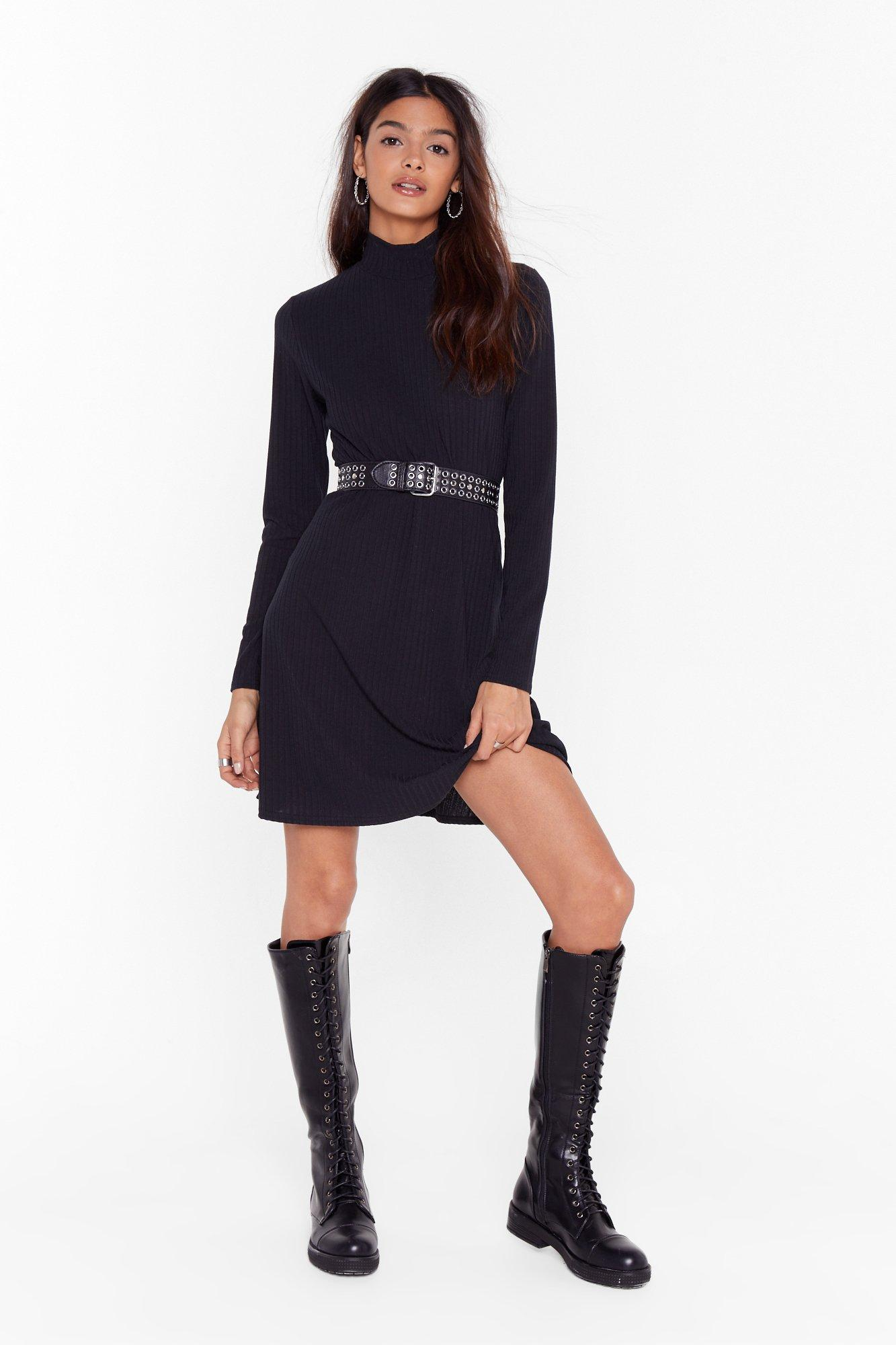 Image of Swing My Way High Neck Mini Dress