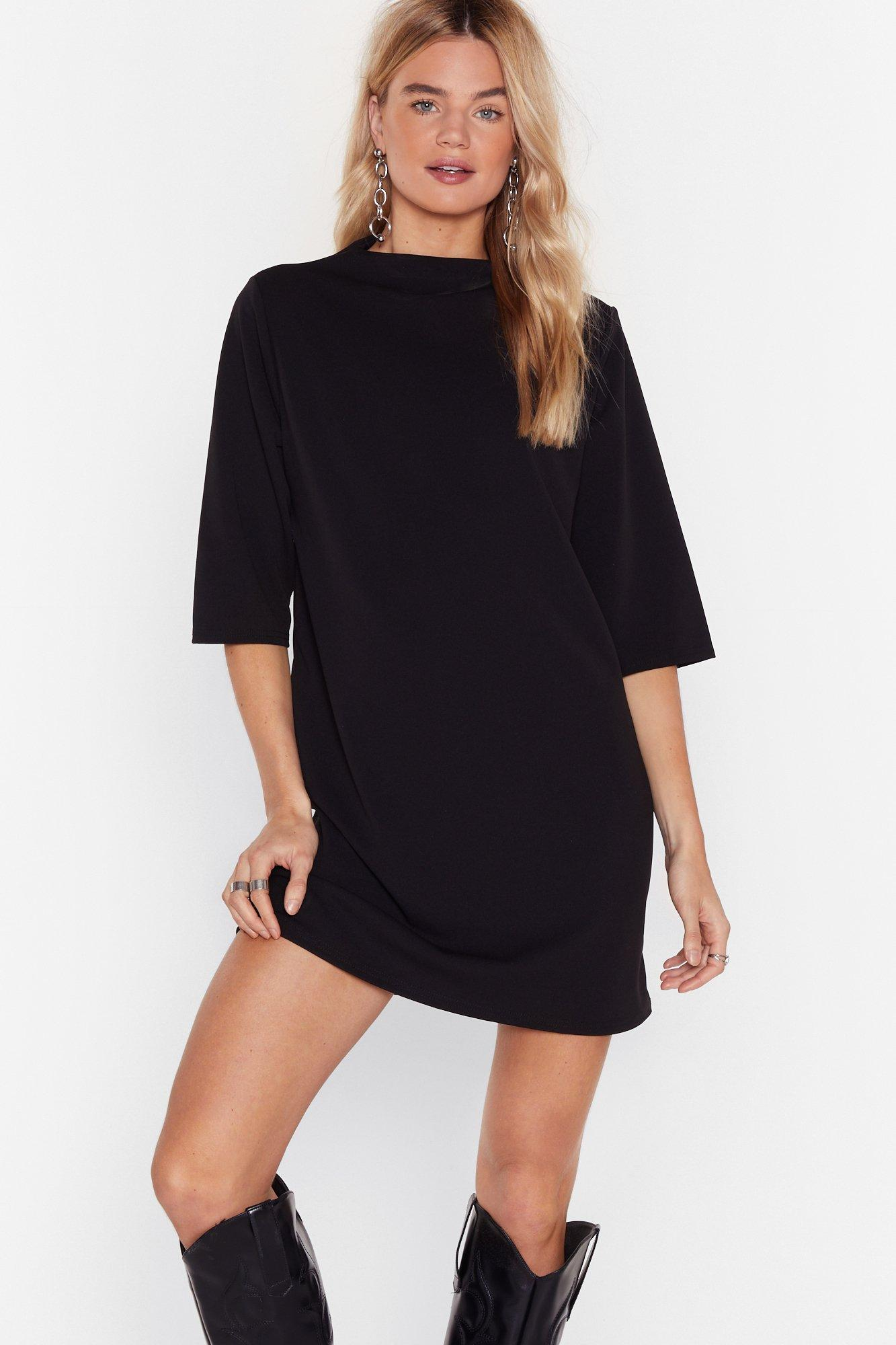 Image of Give Us a Mini High Neck Dress