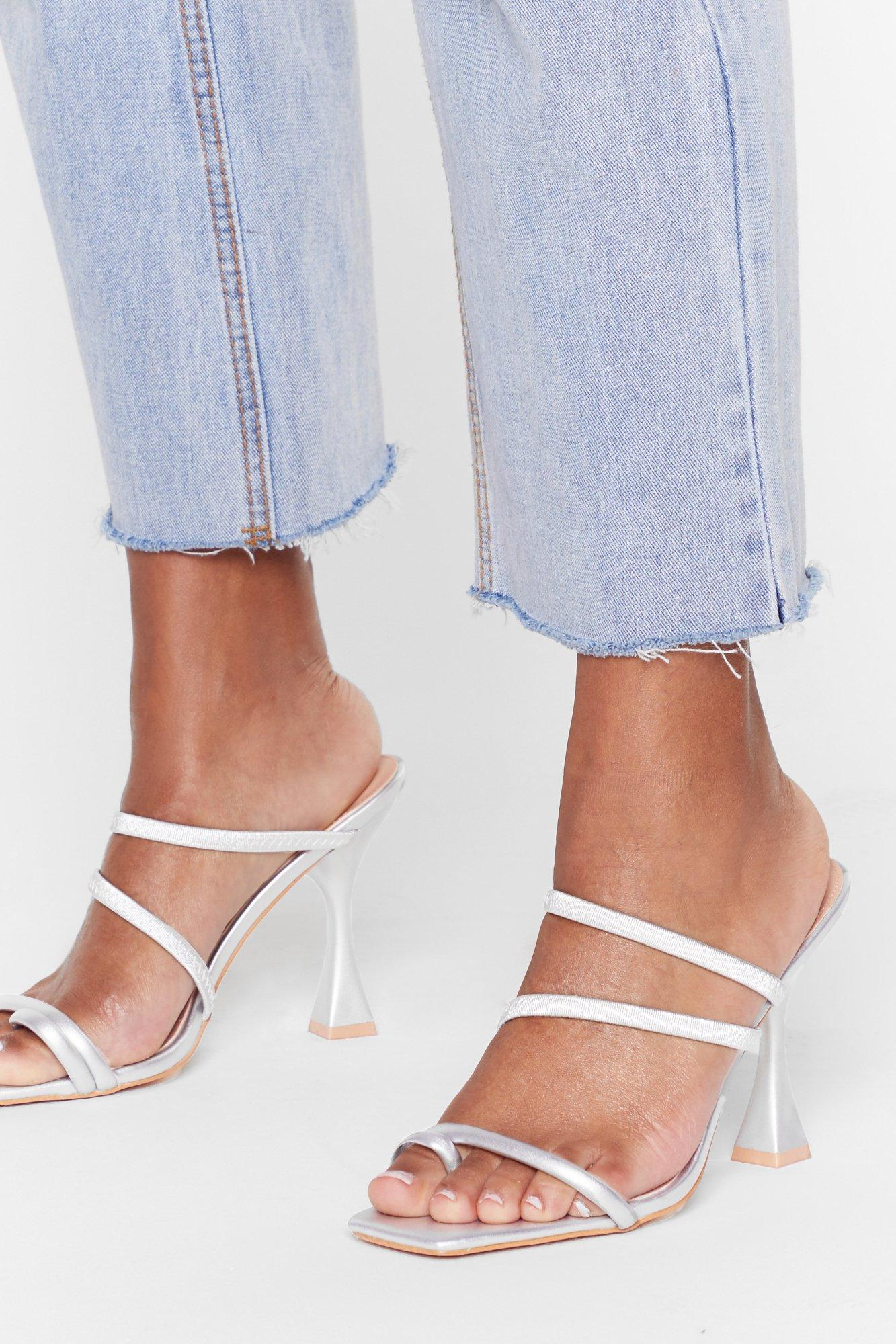 Image of Heel Talk Strappy Louis Heel Mules