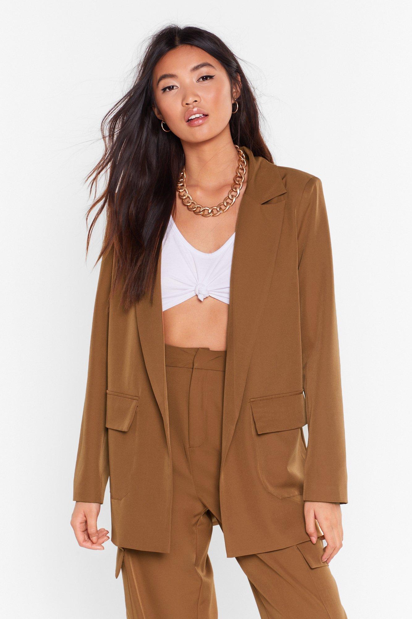 Image of Can't Pocket Enough Longline Blazer