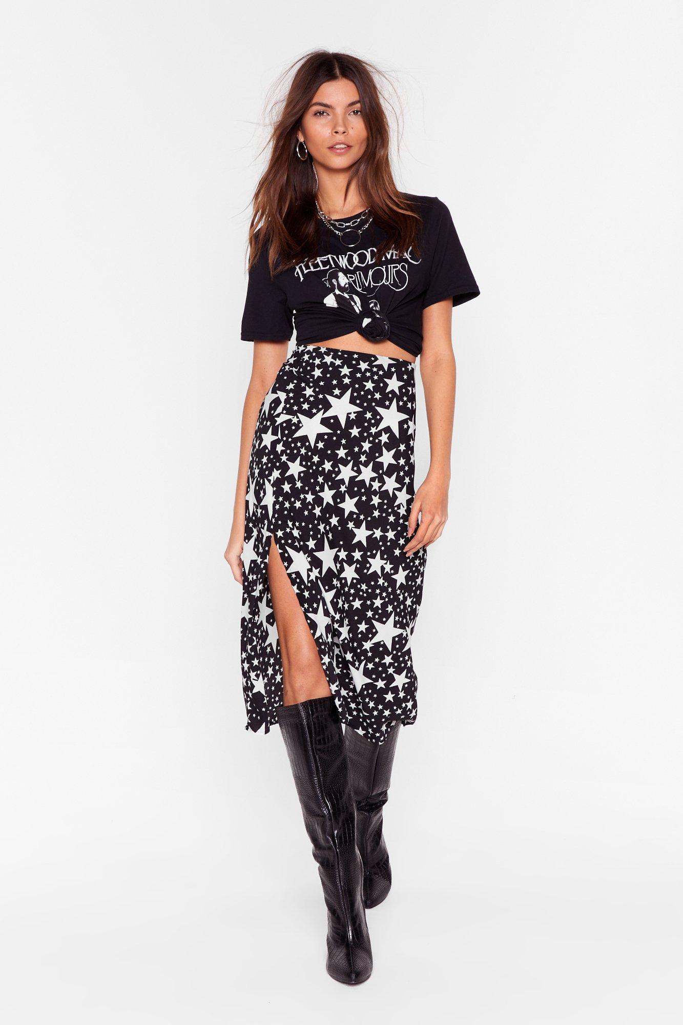 Image of Star-t Again High-Waisted Midi Skirt