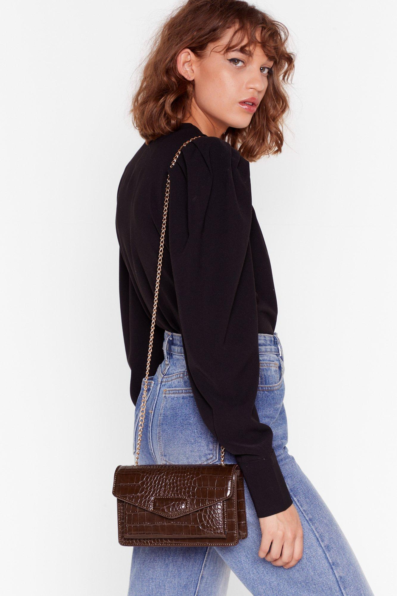 Image of WANT Croc the Beat Chain Crossbody Bag