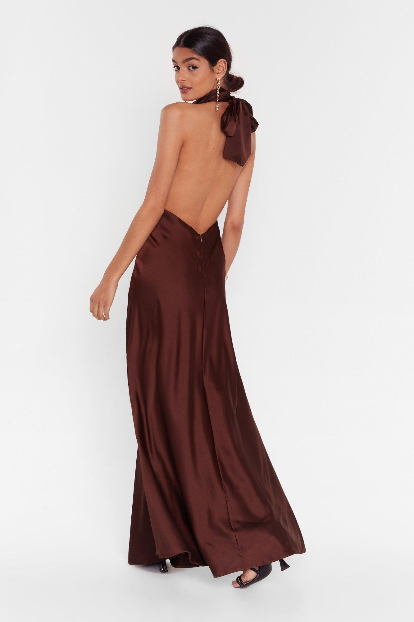 Image of big entrance satin maxi dress