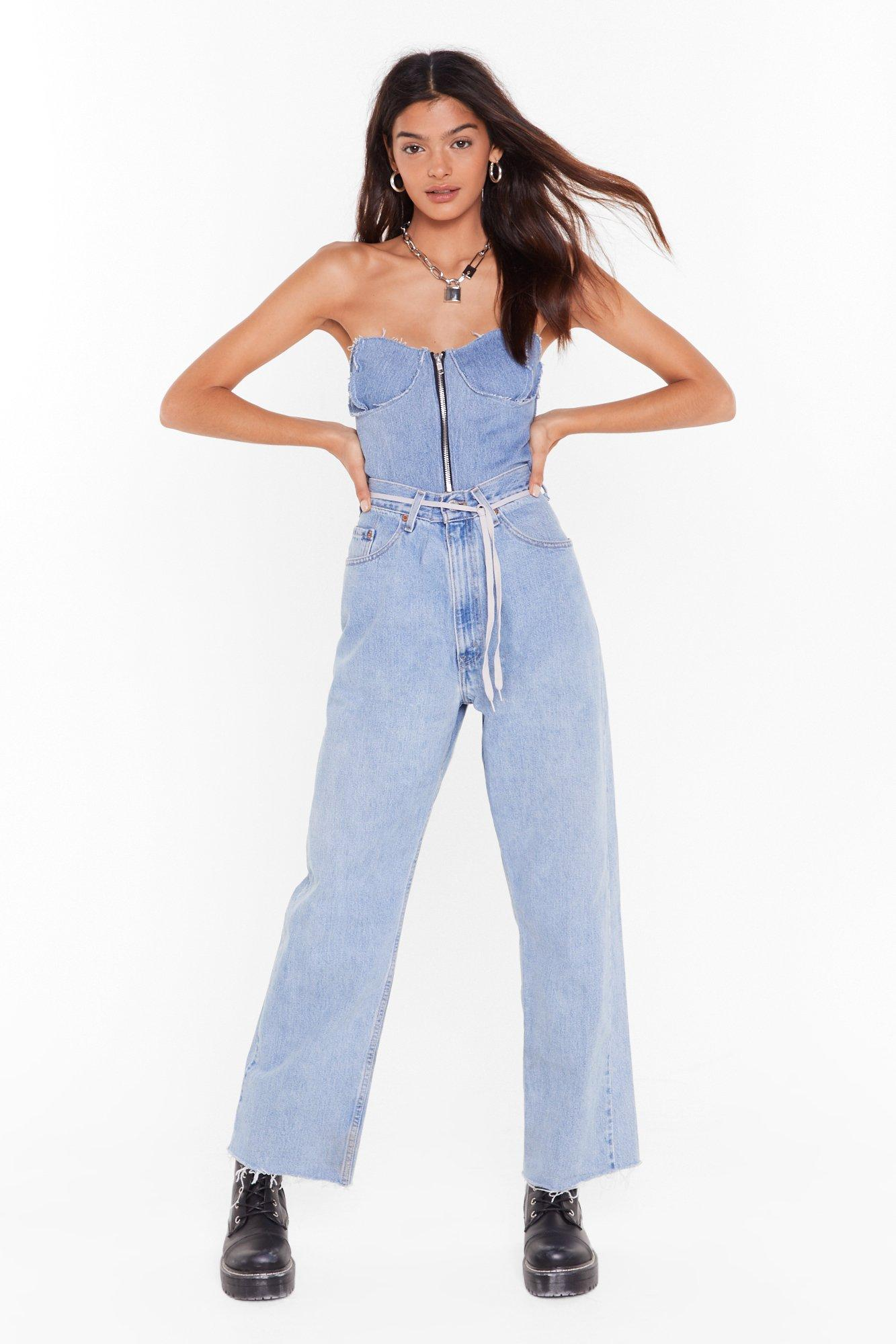 Image of Nasty Gal Vintage Wash Out Boy High-Waisted Jeans