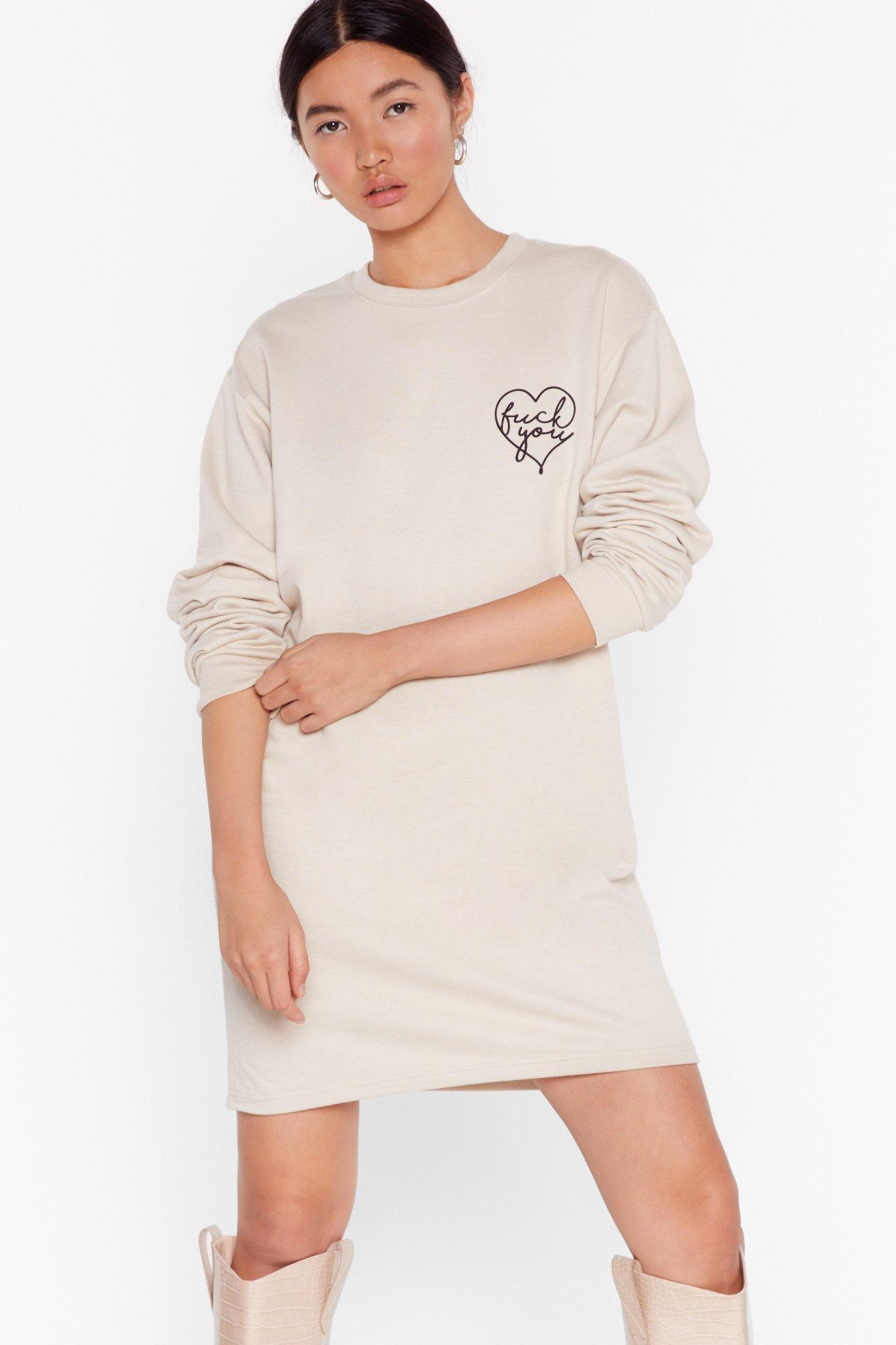 Image of Fuck You Cardio Sweatshirt Dress